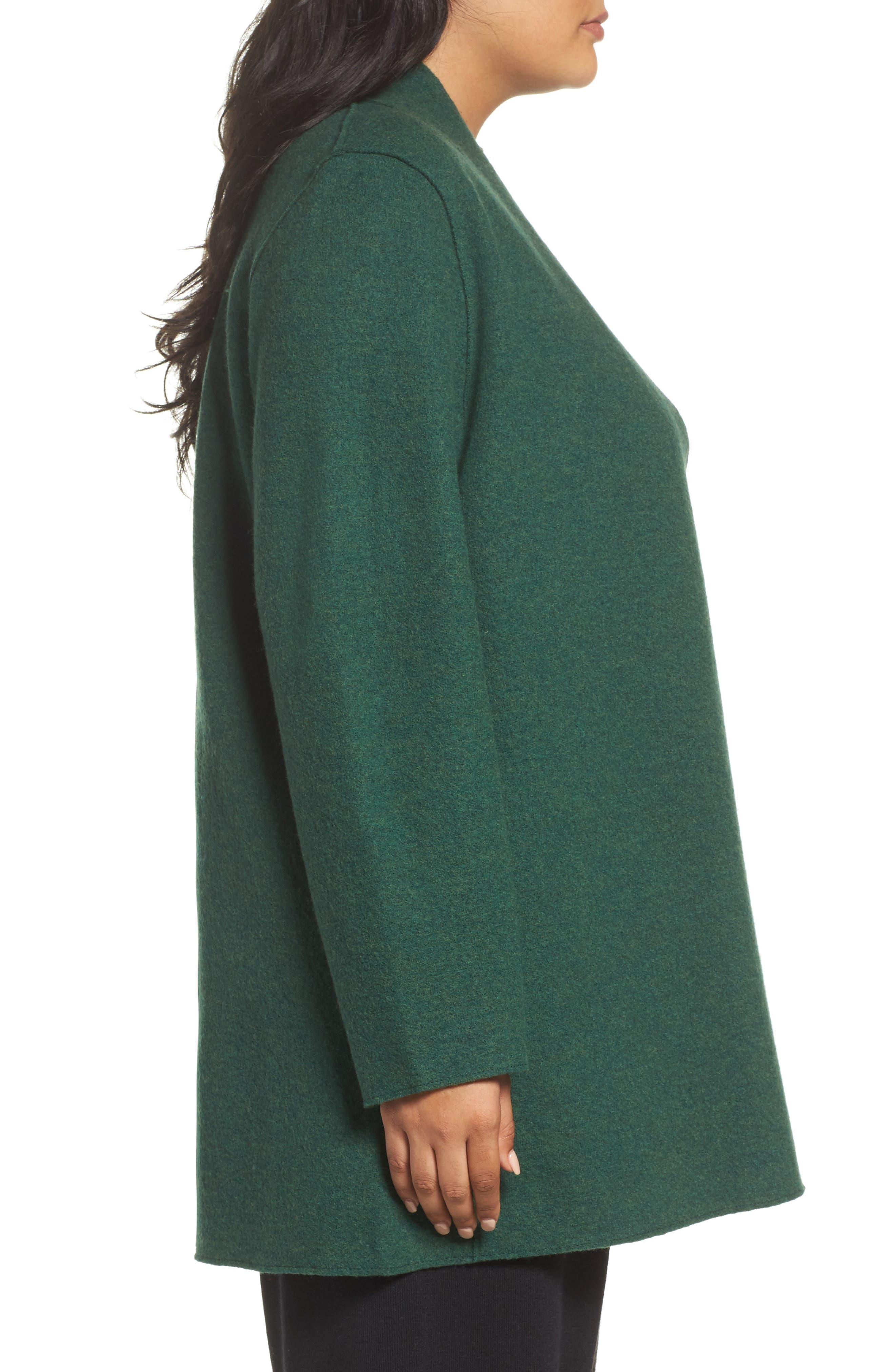 Alternate Image 3  - Eileen Fisher Boiled Wool Jacket (Plus Size)