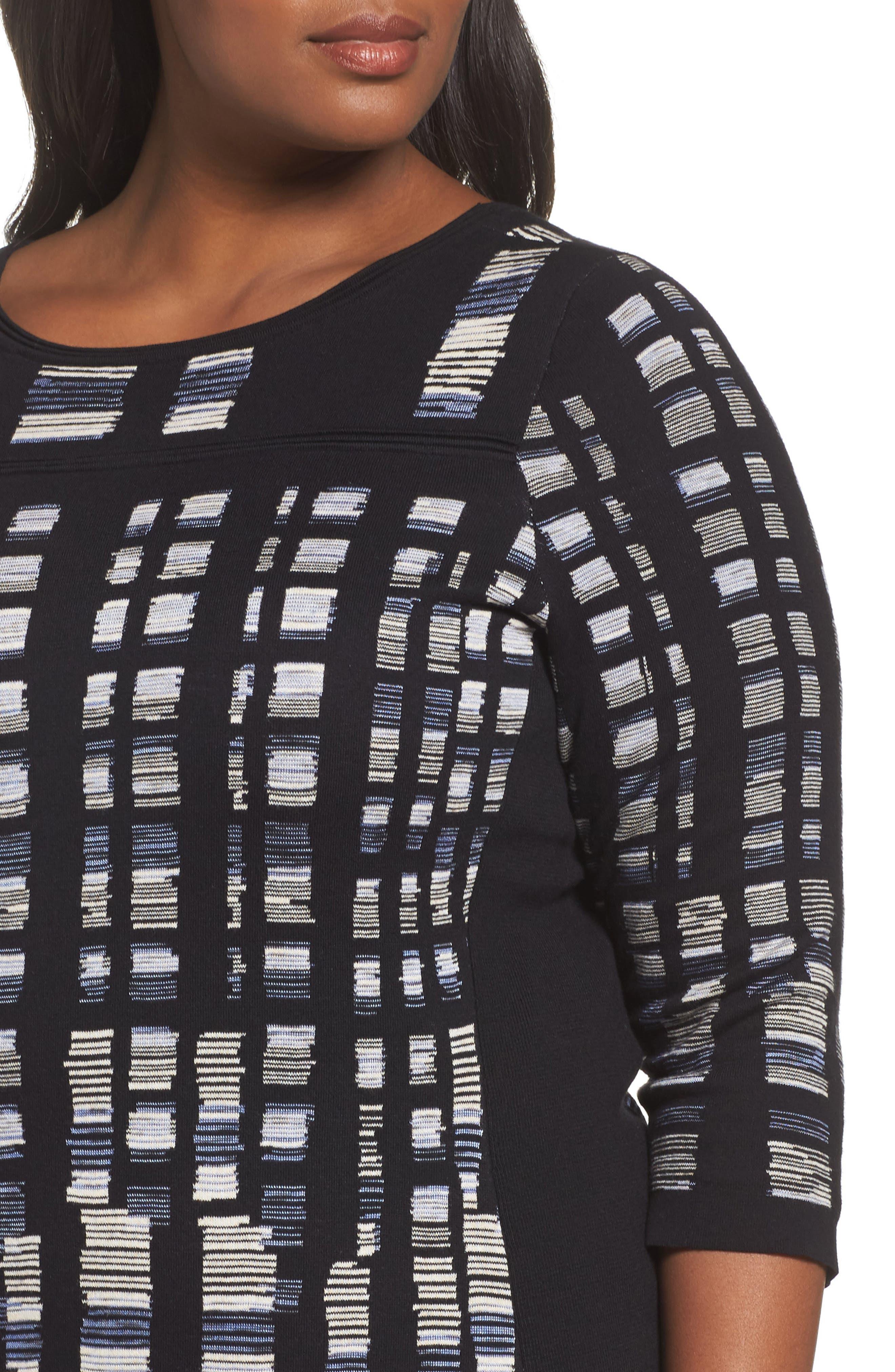 Crystal Cove Sweater,                             Alternate thumbnail 4, color,                             Black Multi