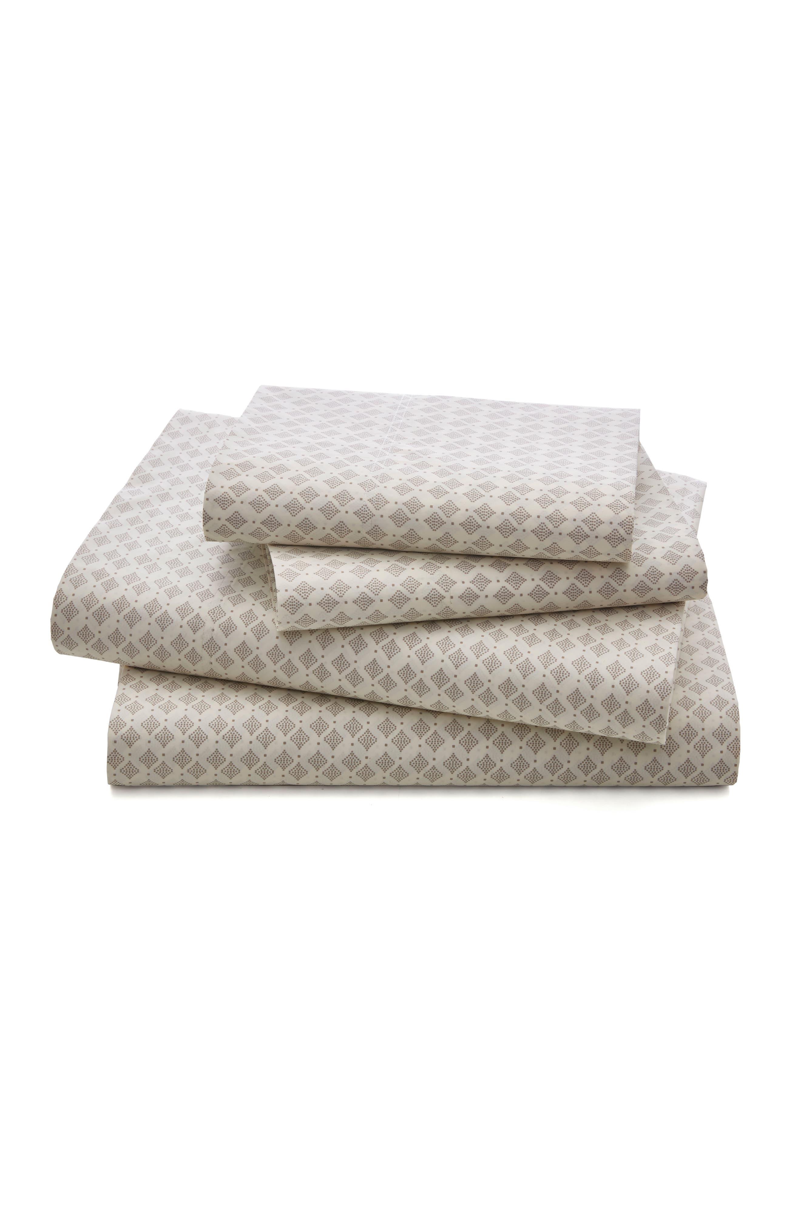 Taza 300 Thread Count Sheet Set,                         Main,                         color, Dove
