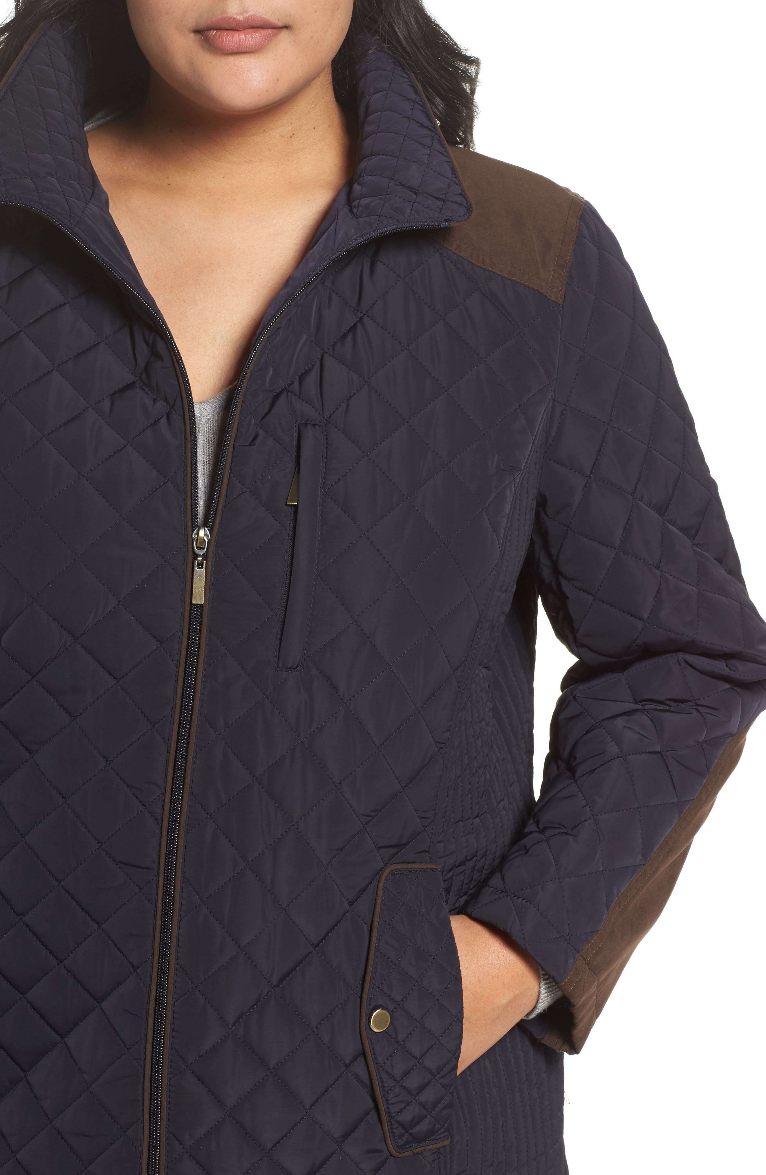 Alternate Image 4  - Gallery Insulated Jacket (Plus Size)