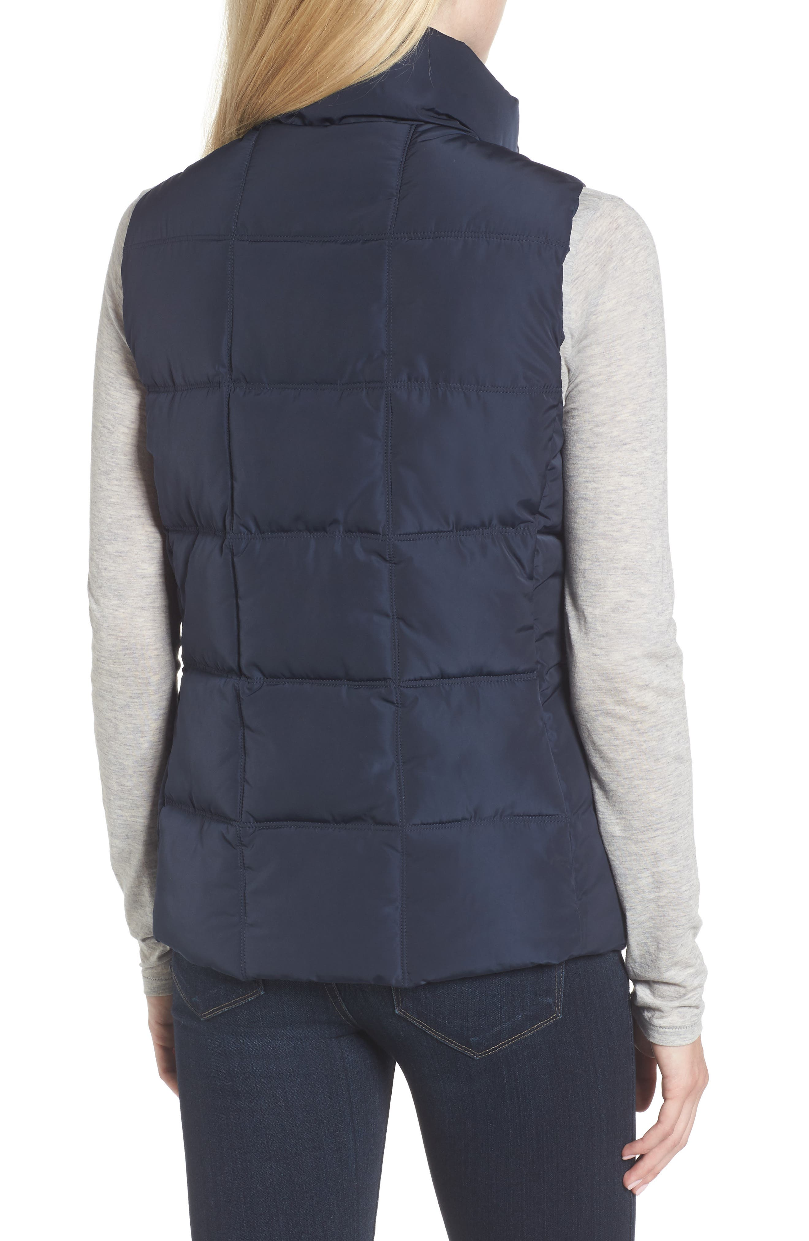 Quilted Puffer Vest,                             Alternate thumbnail 2, color,                             Navy