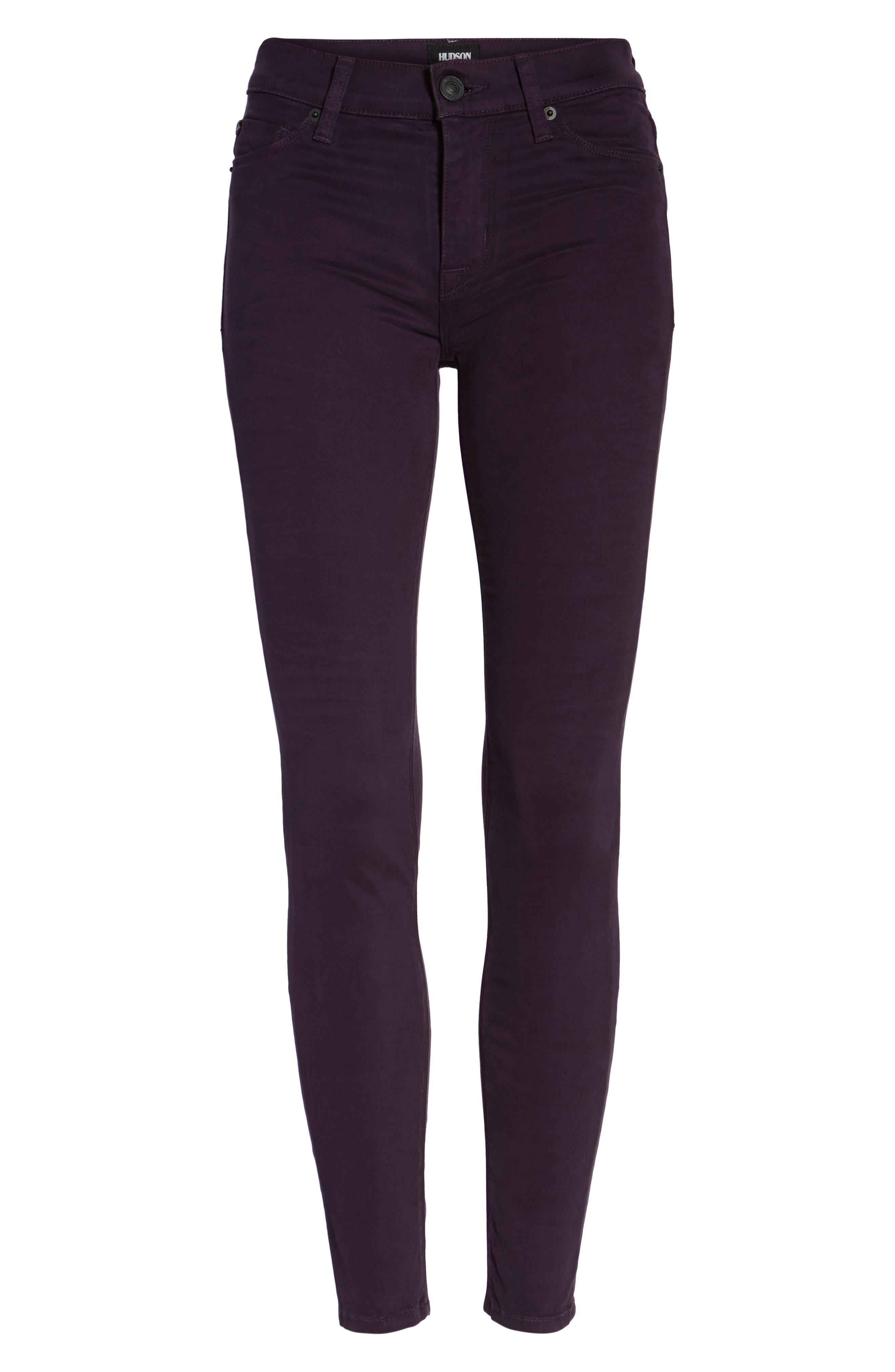 Nico Ankle Skinny Pants,                             Alternate thumbnail 6, color,                             Velvet Plum