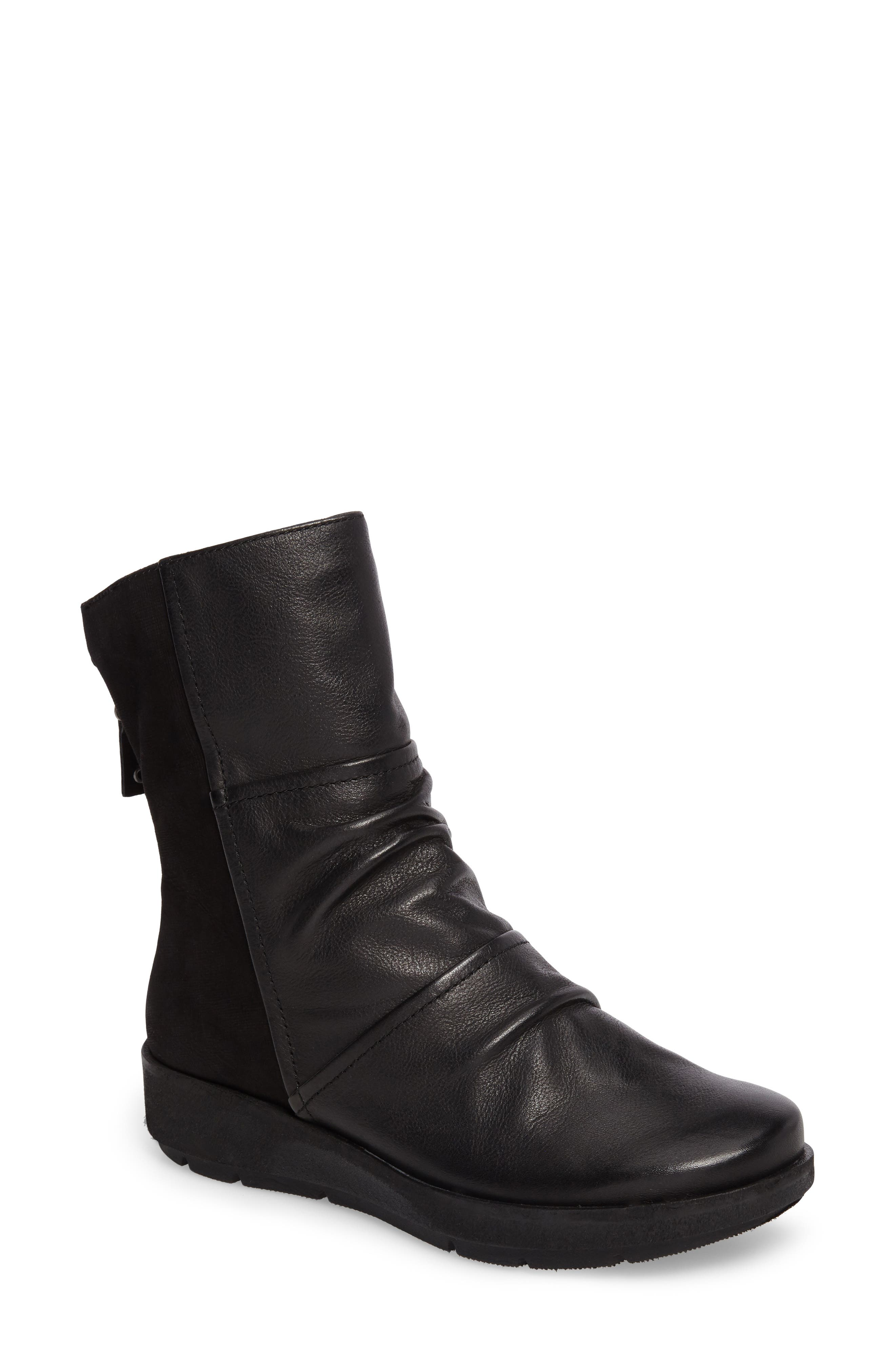 Pilgrim Boot,                         Main,                         color, Black Leather