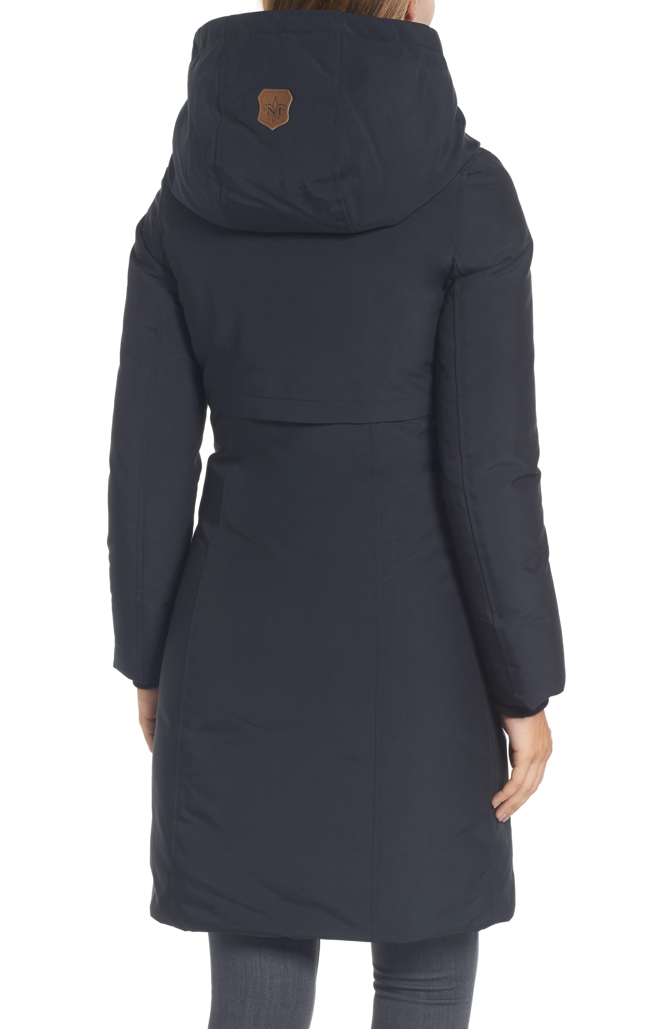 Alternate Image 2  - Mackage Hooded Asymmetrical Down Coat with Inset Bib