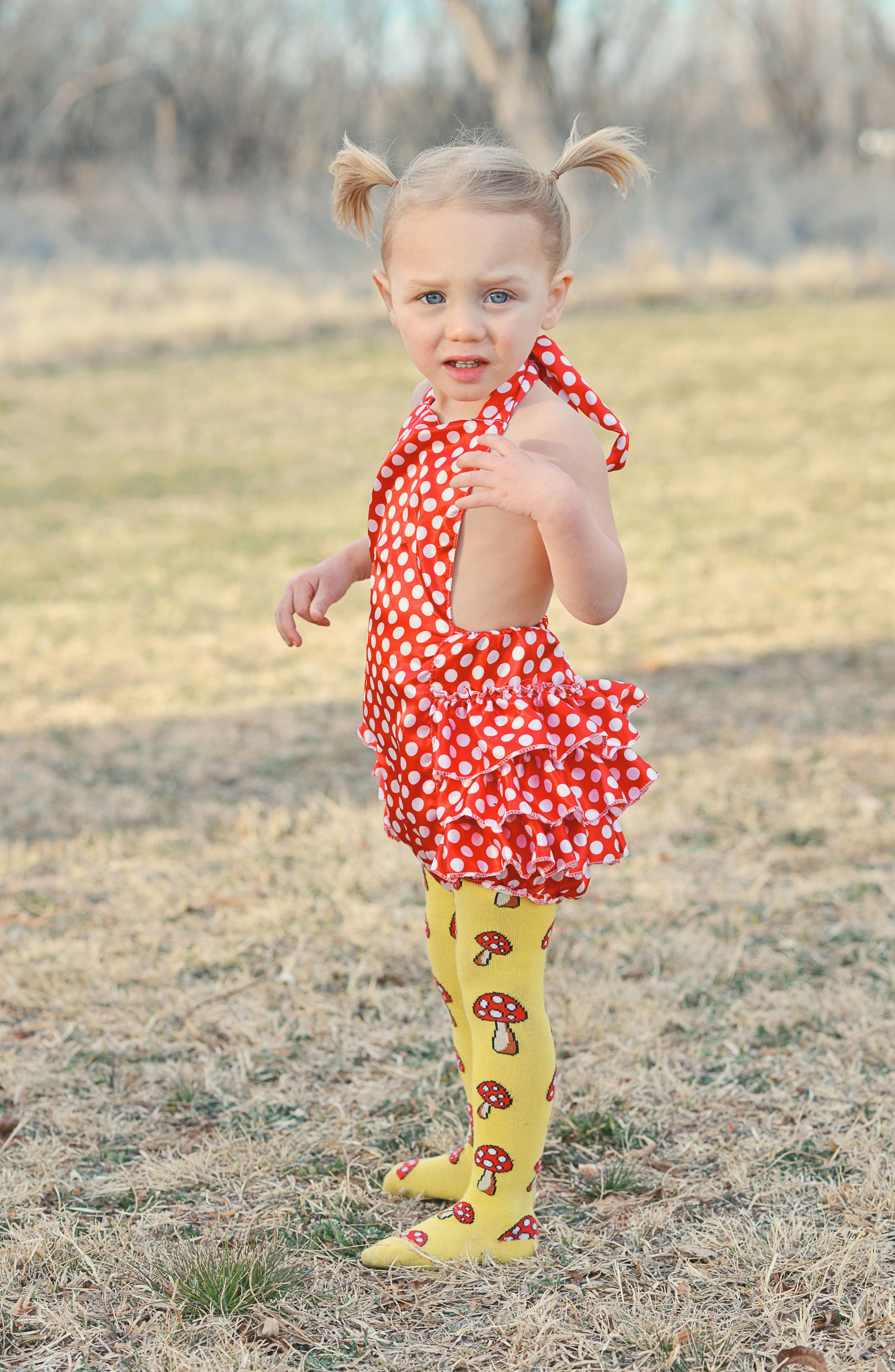 Toadstool Tights,                             Alternate thumbnail 5, color,                             Yellow