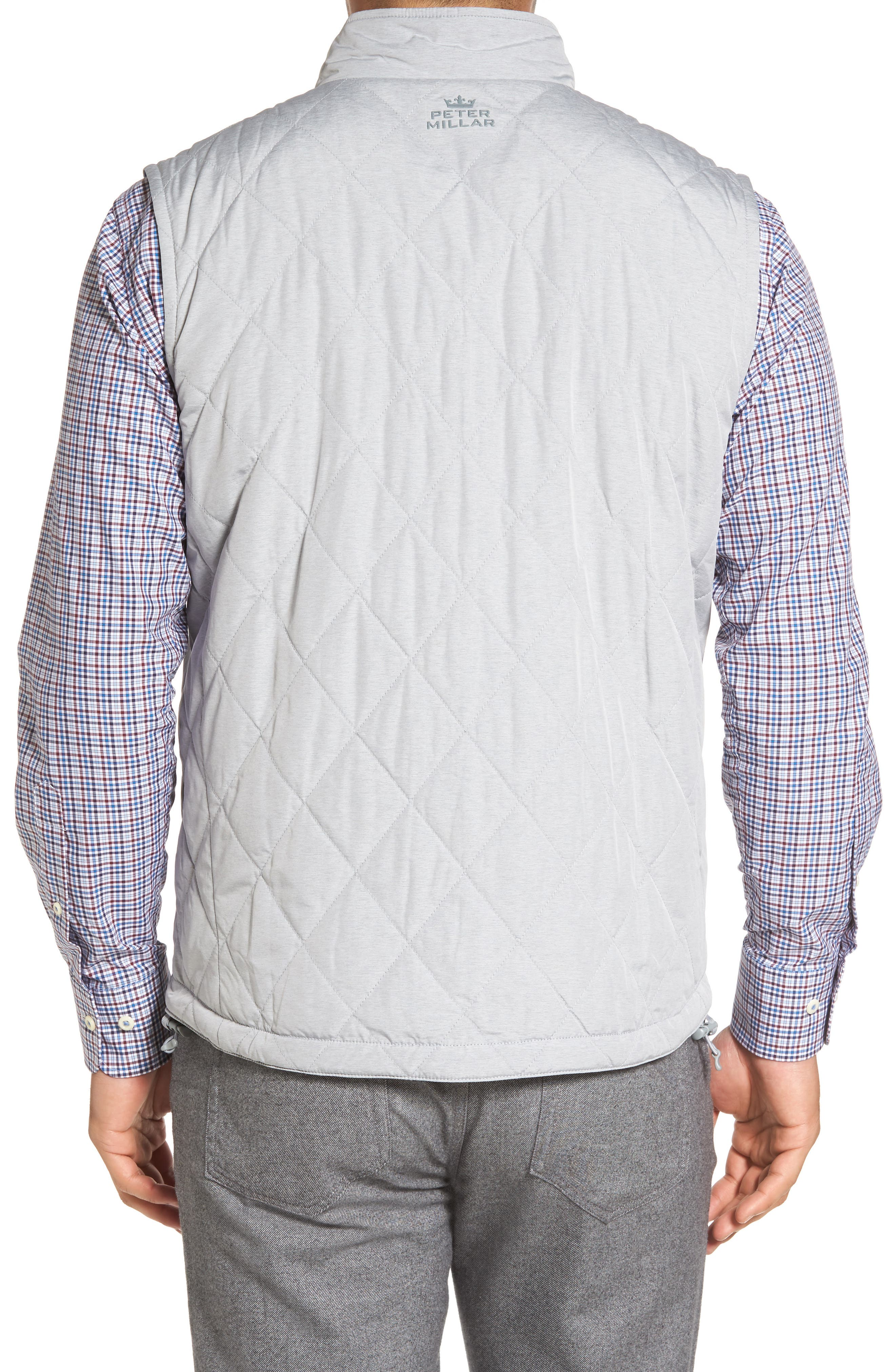 Mitchell Reversible Quilted Vest,                             Alternate thumbnail 2, color,                             British Grey