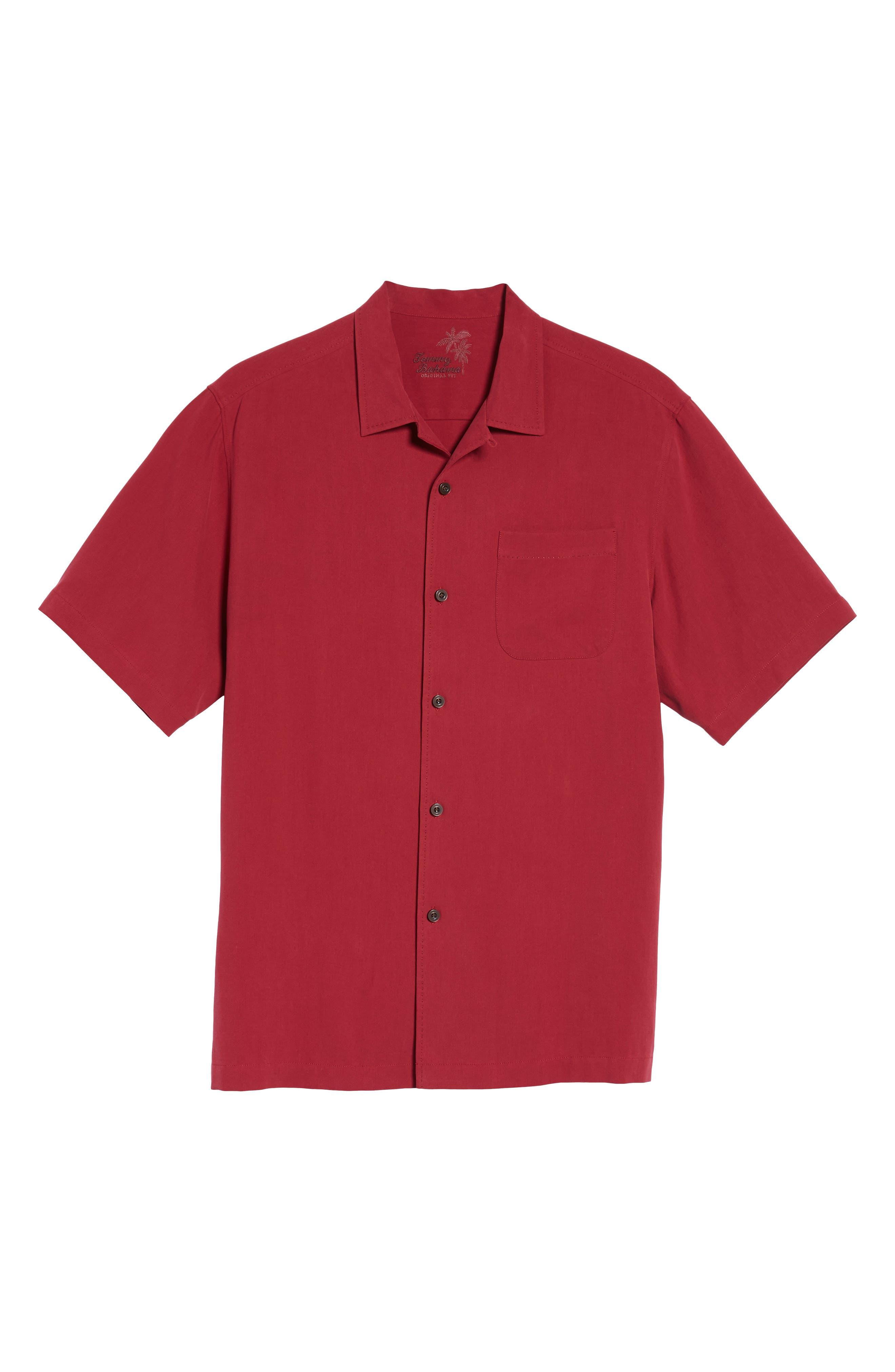 Alternate Image 6  - Tommy Bahama Catalina Twill Short Sleeve Silk Camp Shirt