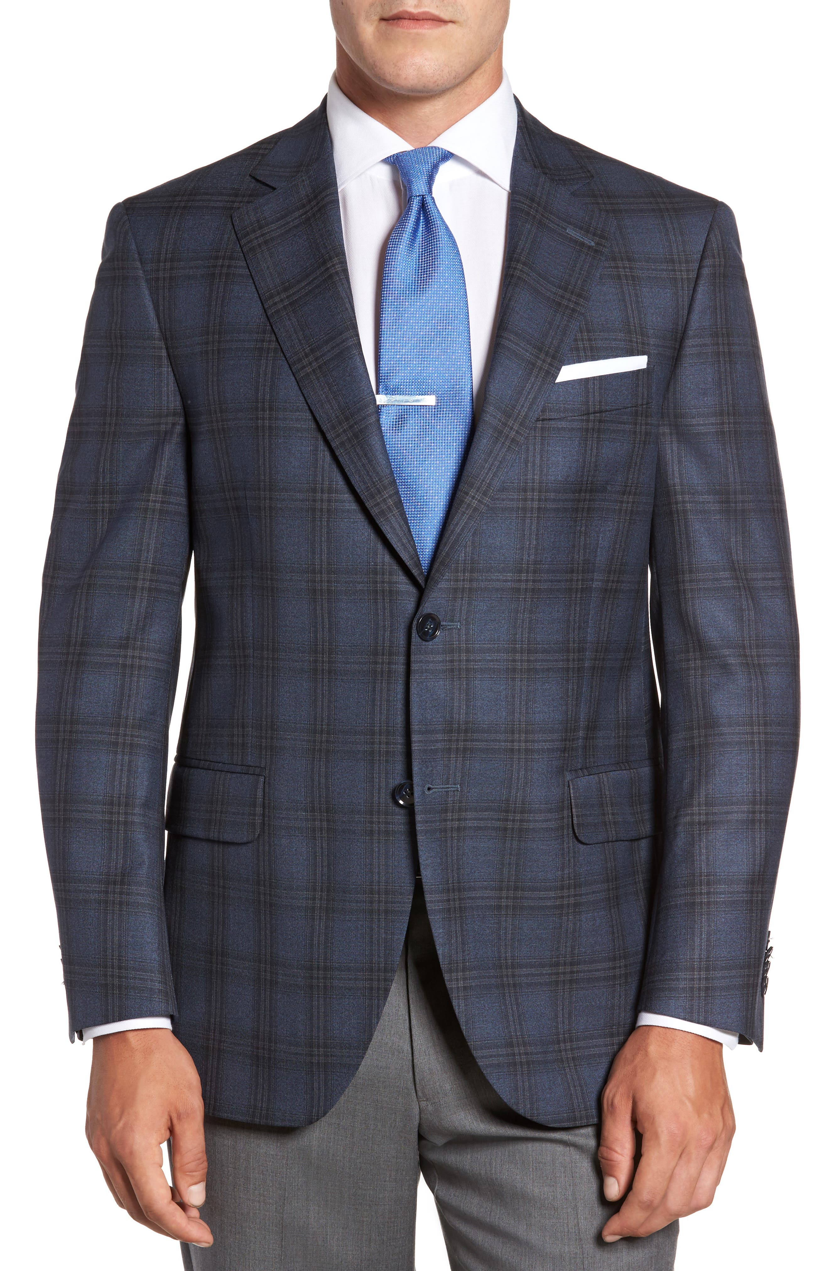Main Image - Peter Millar Flynn Classic Fit Plaid Wool Sport Coat