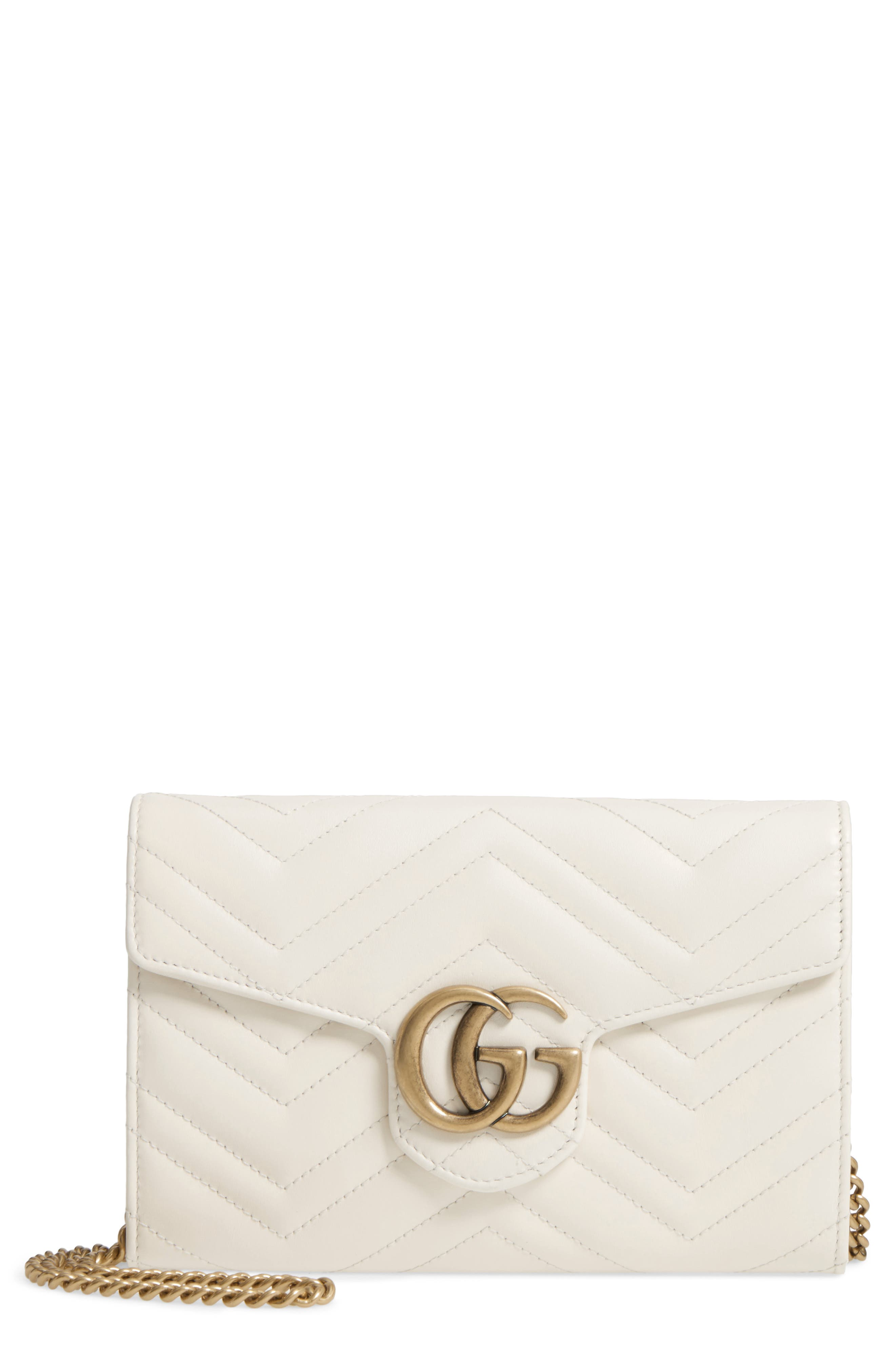 Gucci GG Marmont 2.0 Matelassé Leather Wallet on a Chain