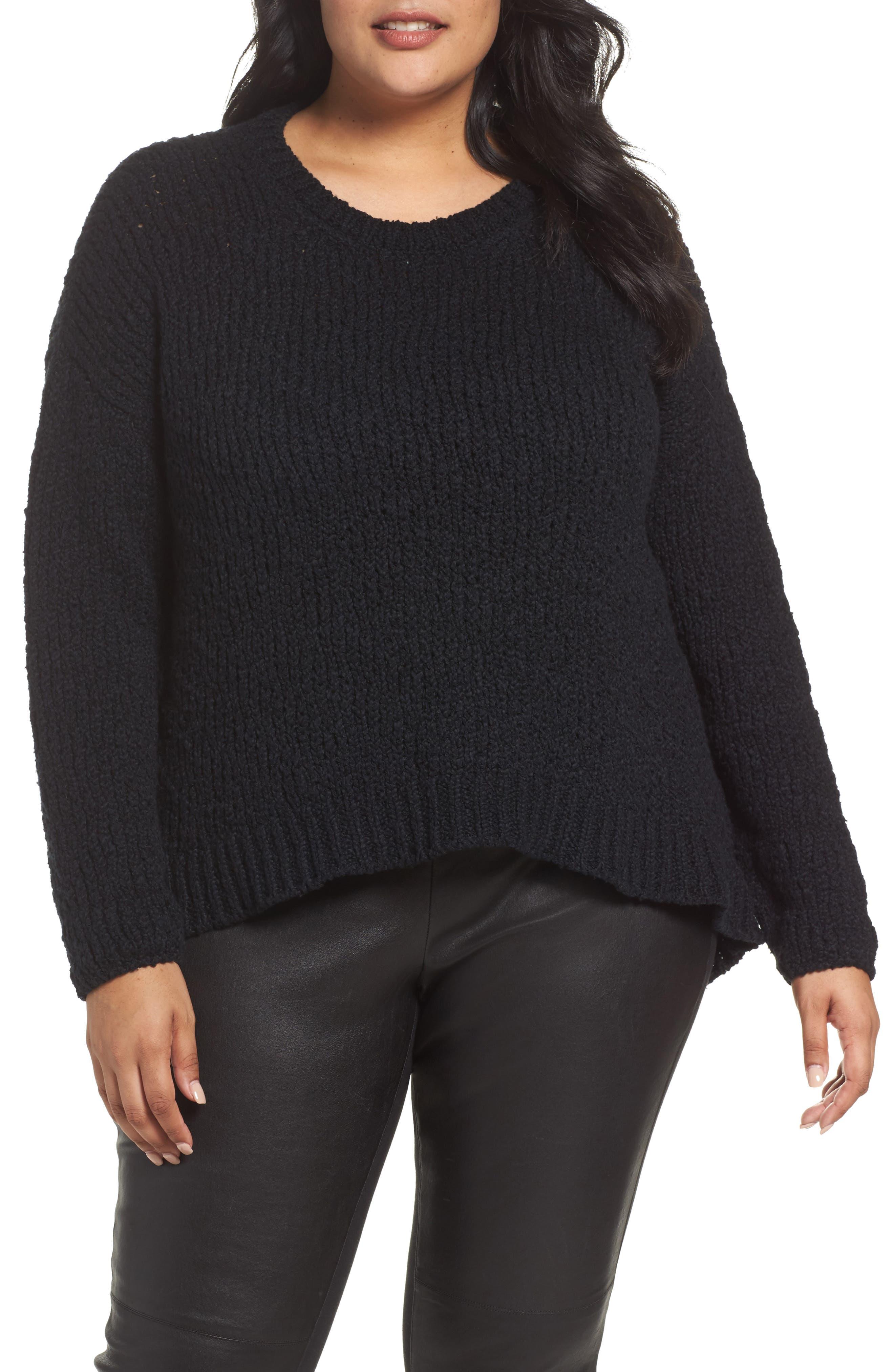 Eileen Fisher Round Neck Organic Cotton Crop Sweater