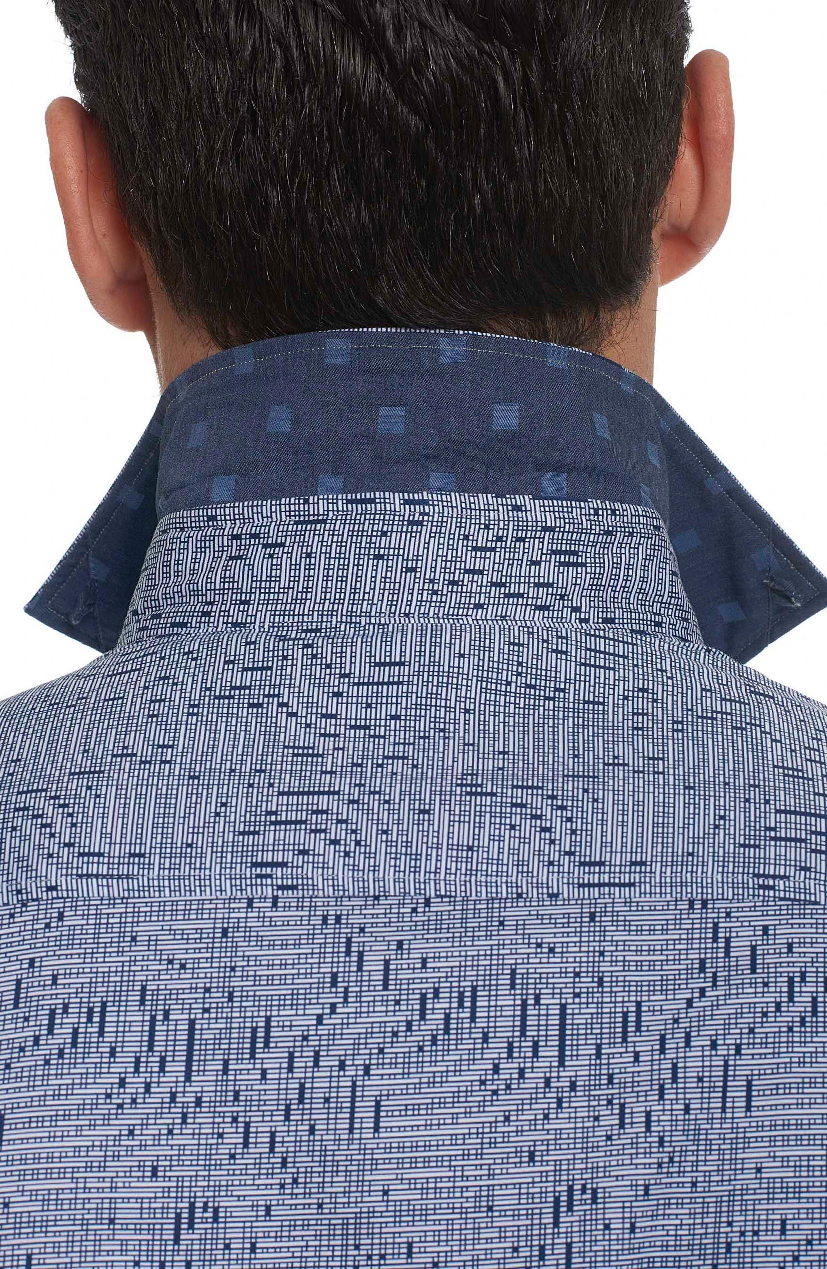Alternate Image 3  - Robert Graham Donovan Tailored Fit Sport Shirt
