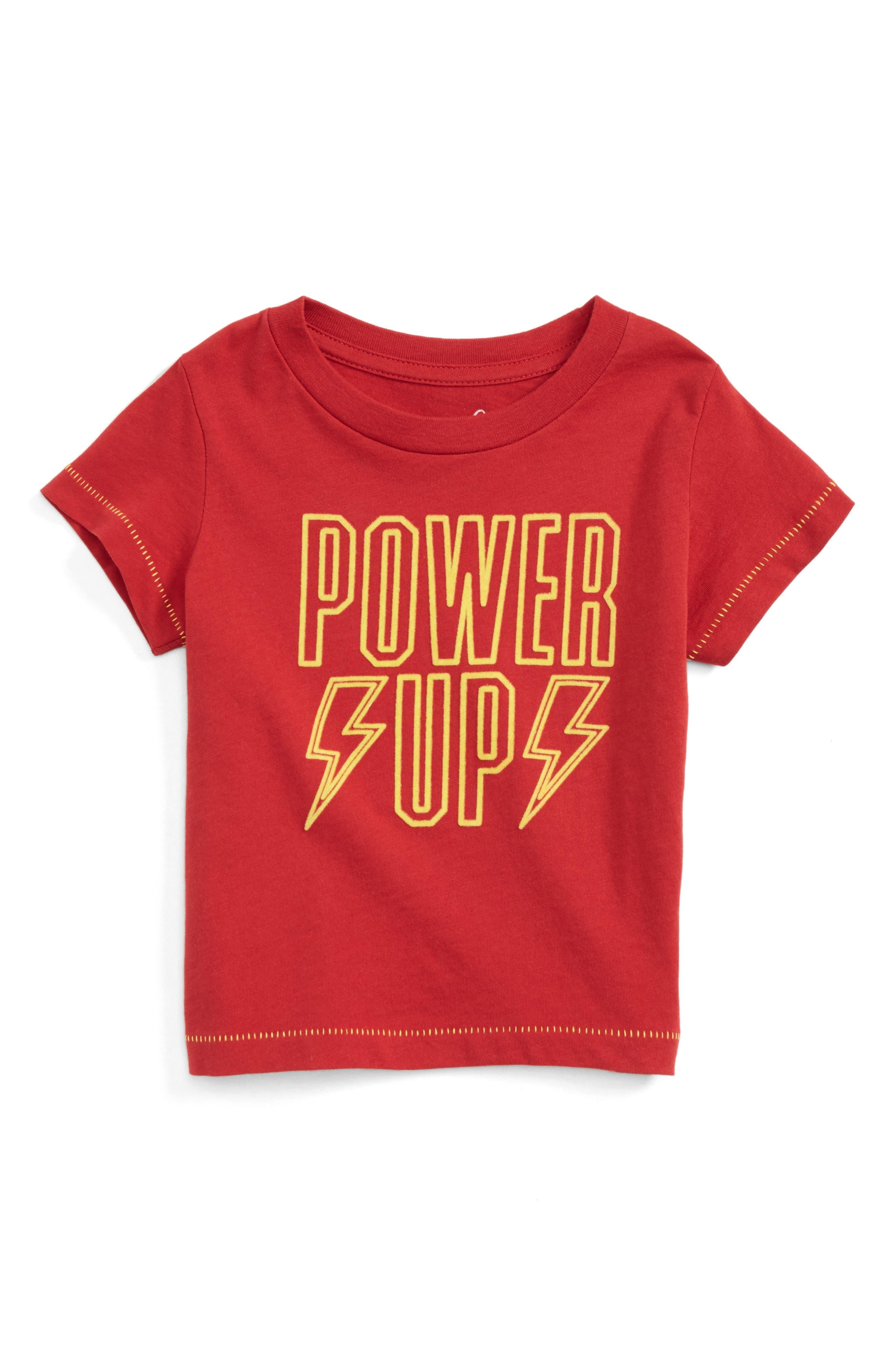 Power Up T-Shirt,                             Main thumbnail 1, color,                             Red