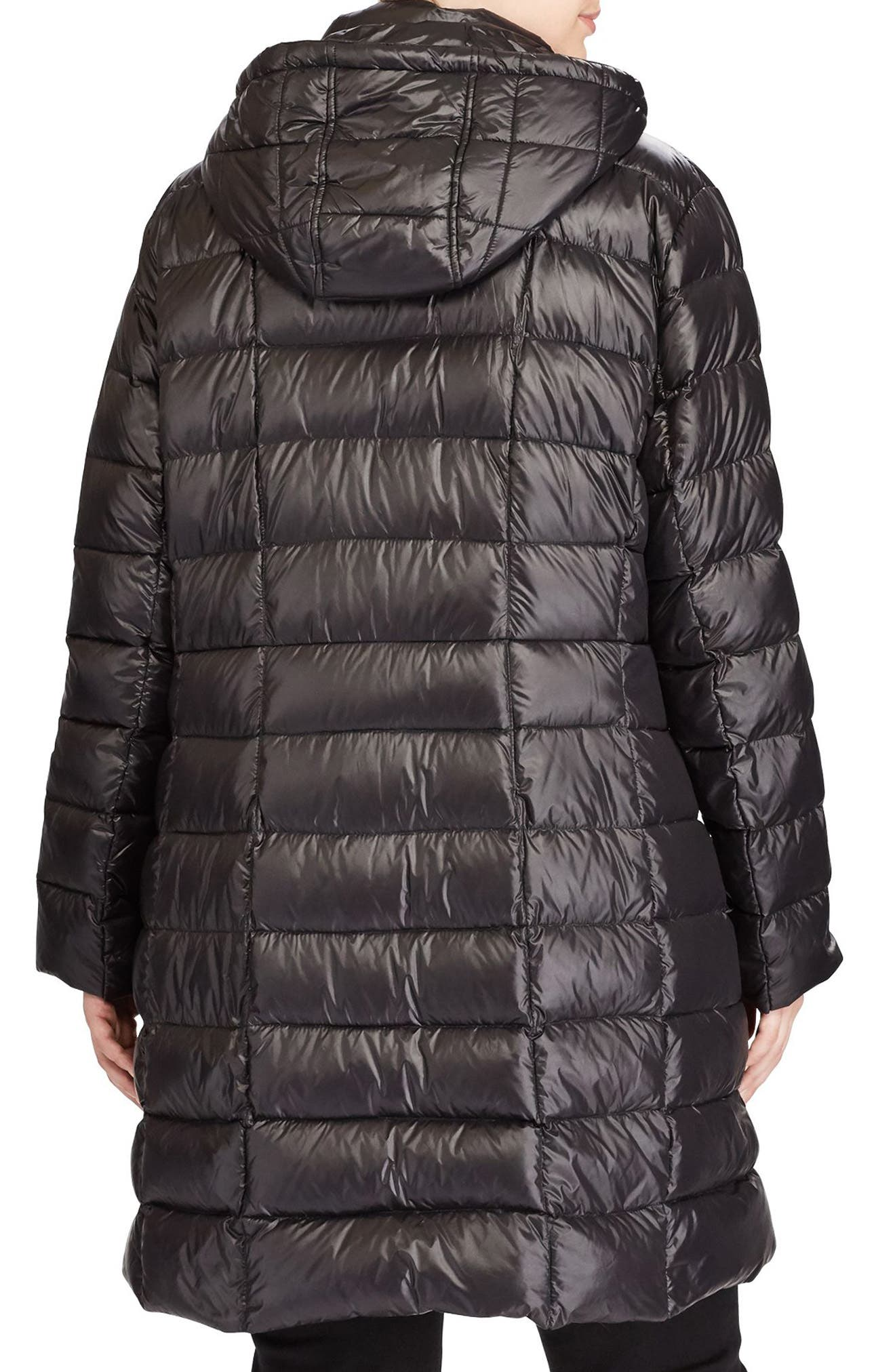 Alternate Image 3  - Lauren Ralph Lauren Quilted Down Coat (Plus Size)