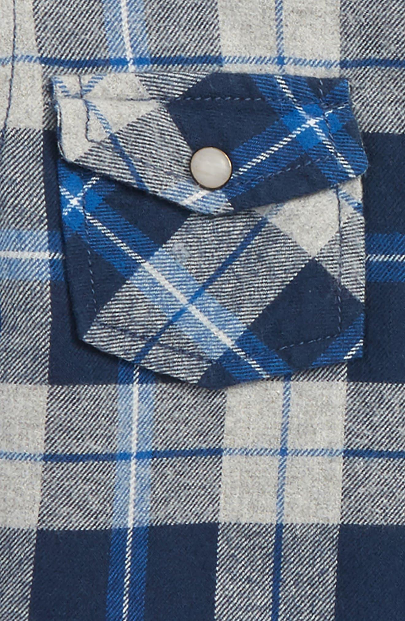 Alternate Image 2  - Peek Liam Hooded Flannel Shirt (Toddler Boys, Little Boys & Big Boys)