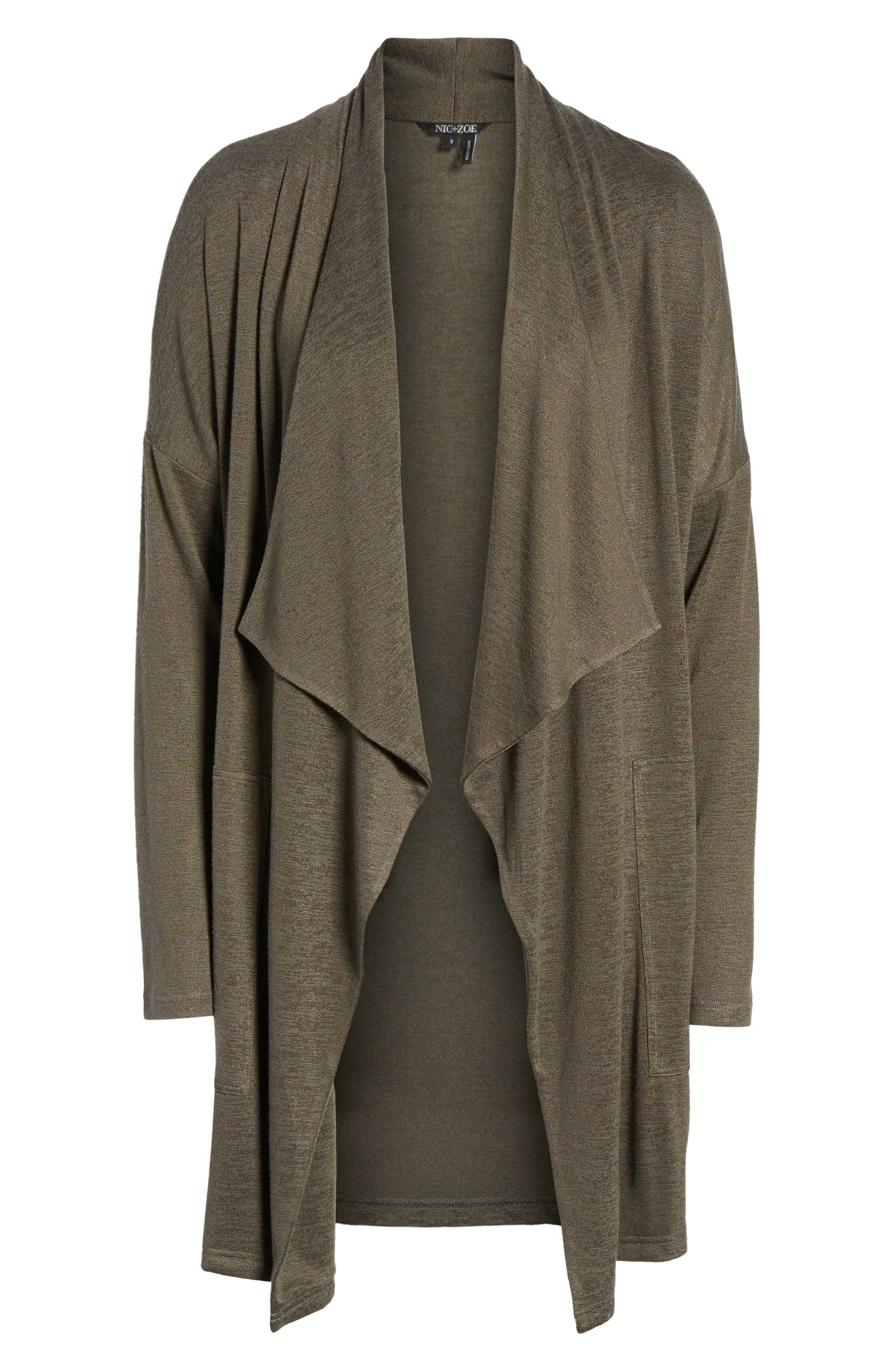 Every Occasion Drape Front Jacket,                             Alternate thumbnail 6, color,                             Terrene