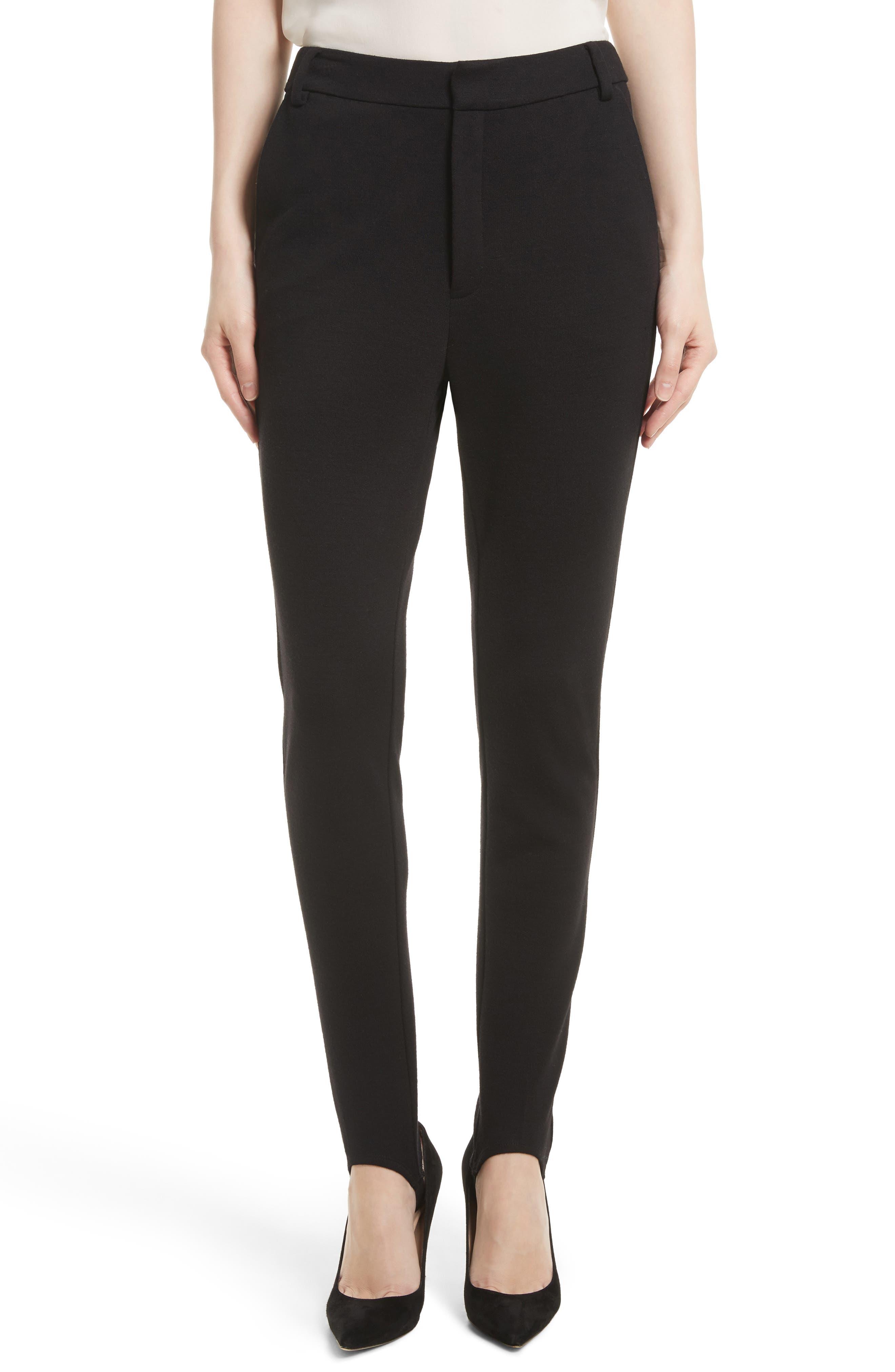 Ponte Stirrup Pants,                         Main,                         color, Noir