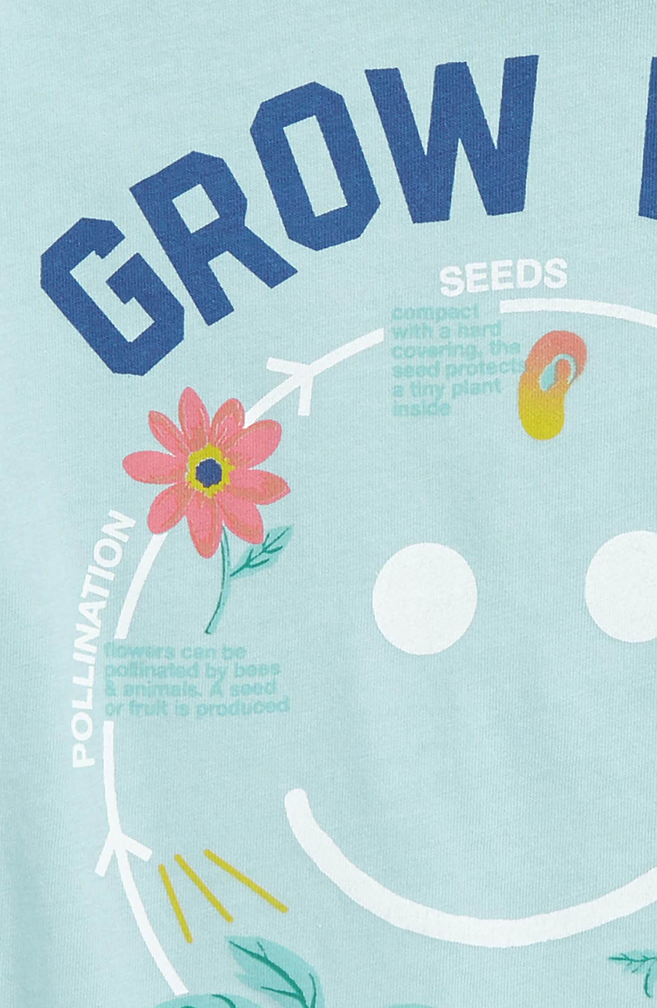 Alternate Image 3  - Peek Grow with the Flow Graphic Tee (Toddler Girls, Little Girls & Big Girls)