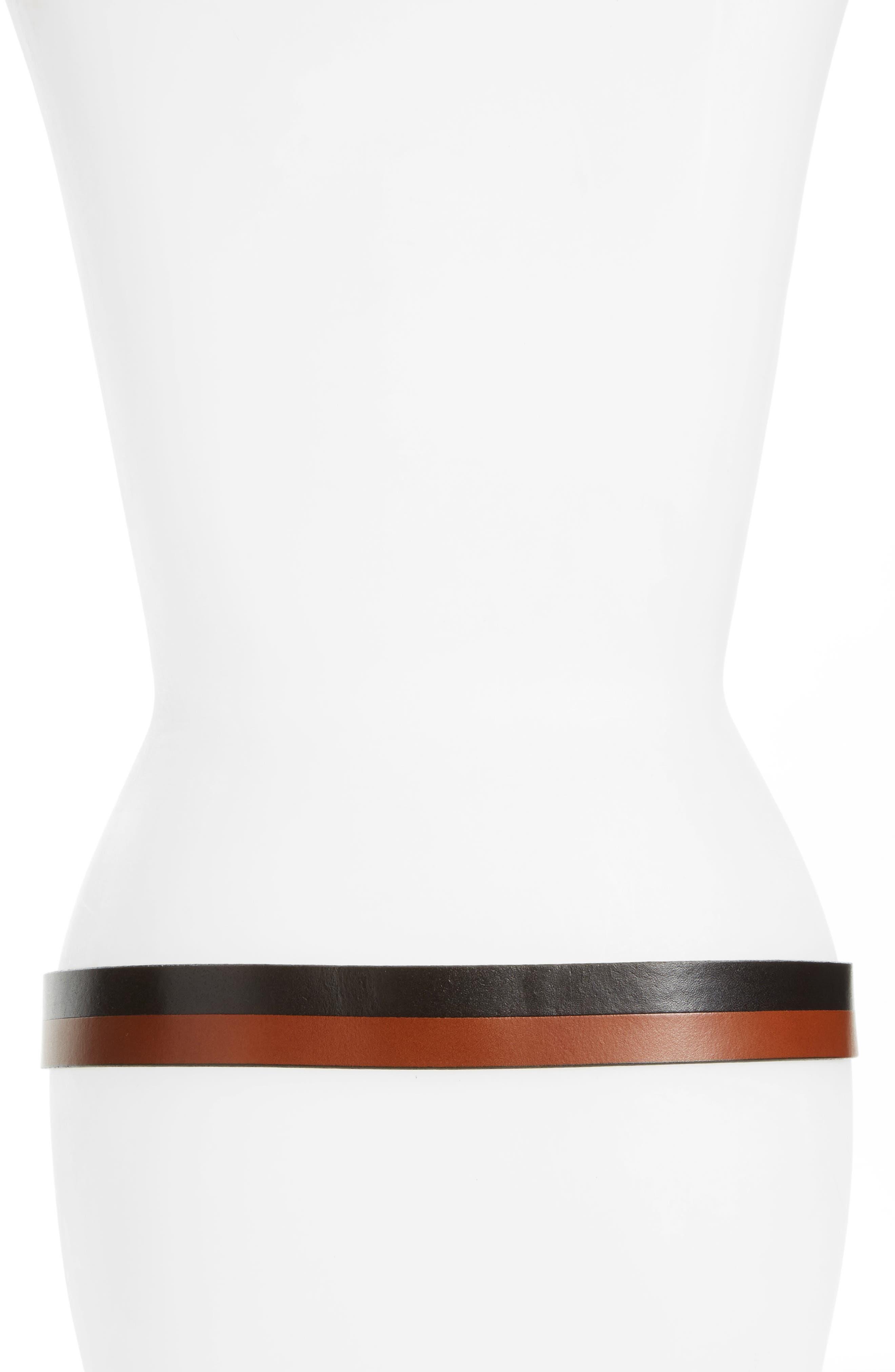 Alternate Image 2  - Halogen® Pieced Leather Belt