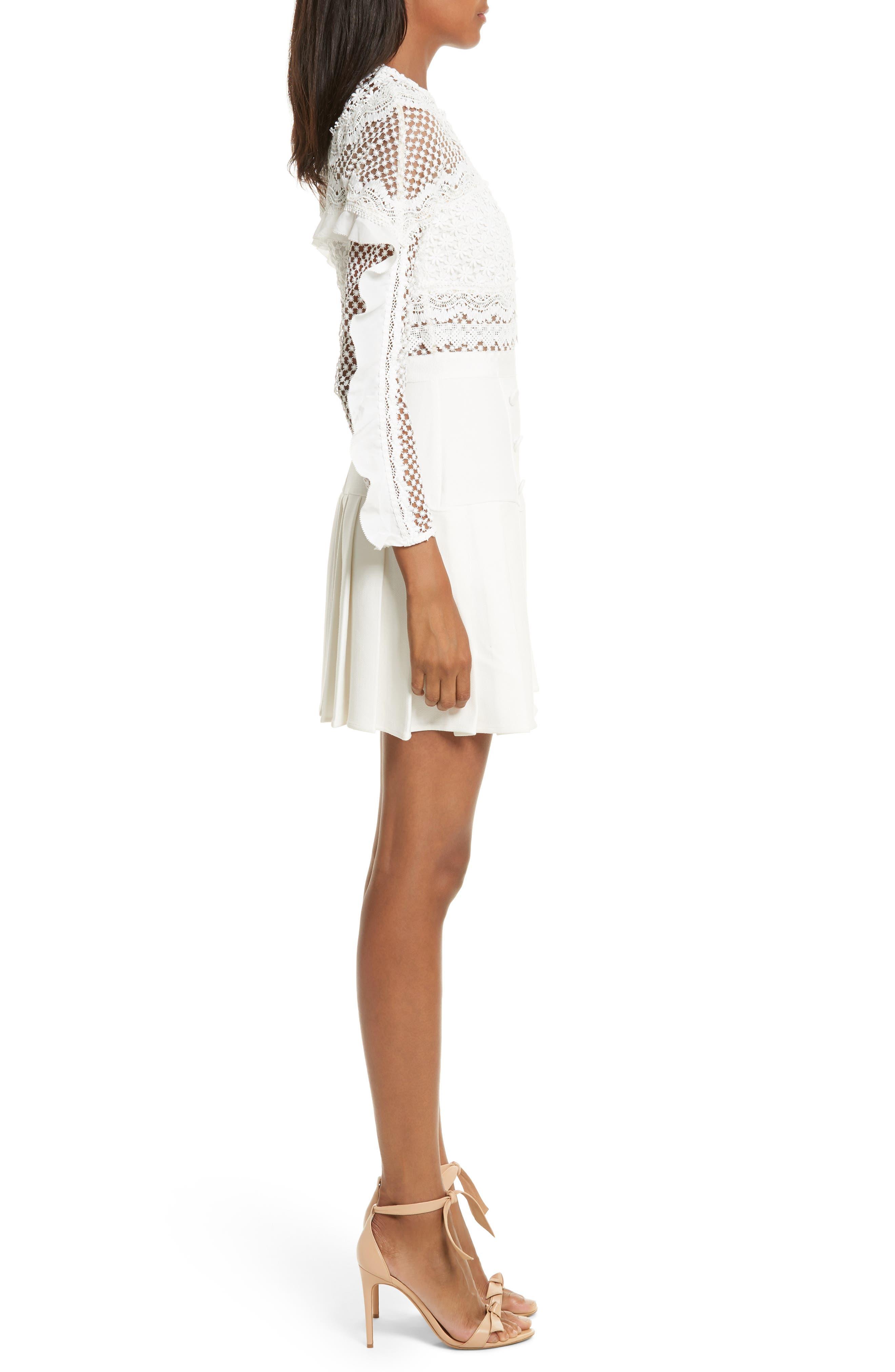 Alternate Image 3  - Self-Portrait Bellis Lace Fit & Flare Dress