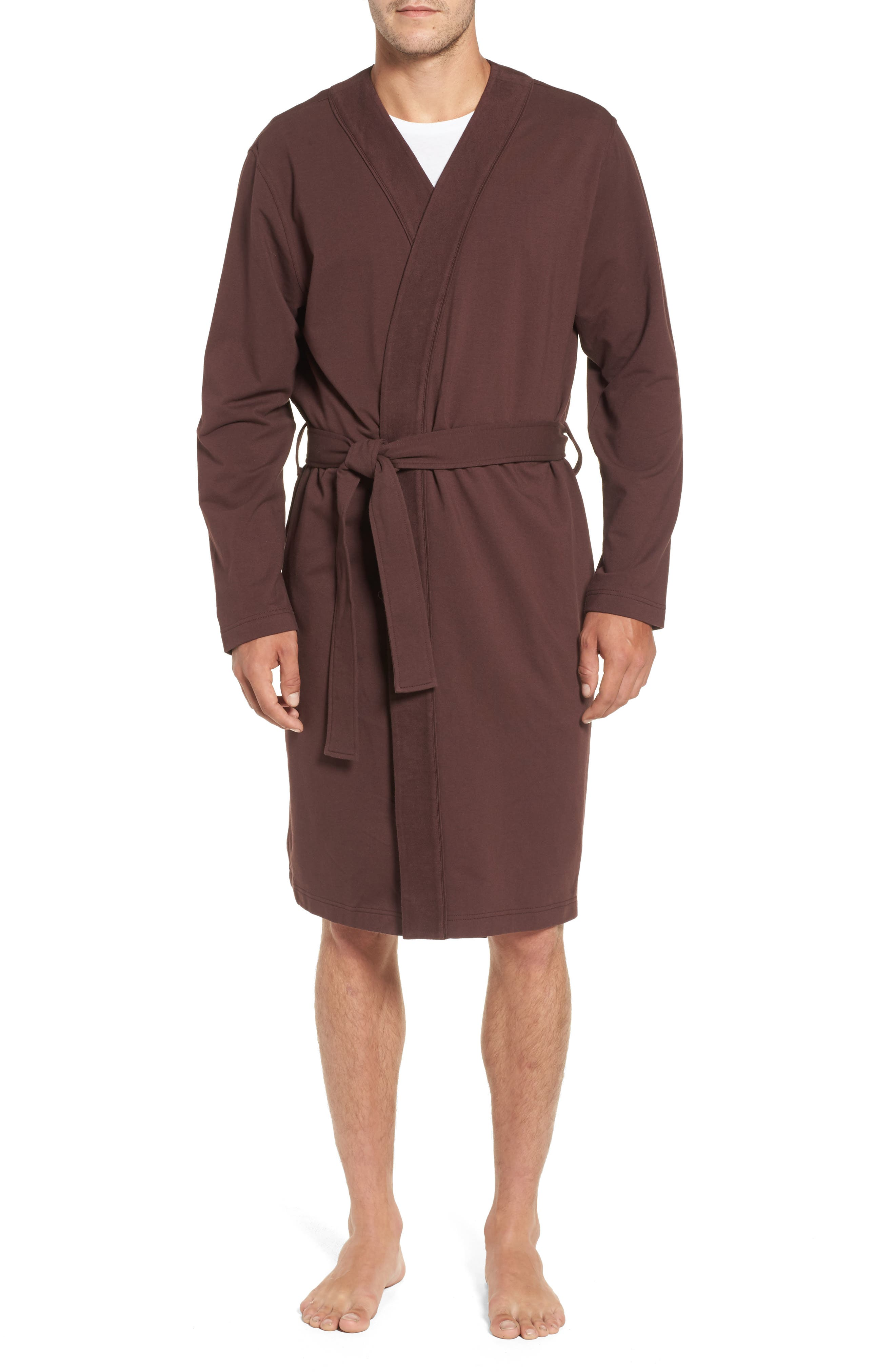 Alternate Image 1 Selected - UGG® Samuel Stretch Cotton Robe