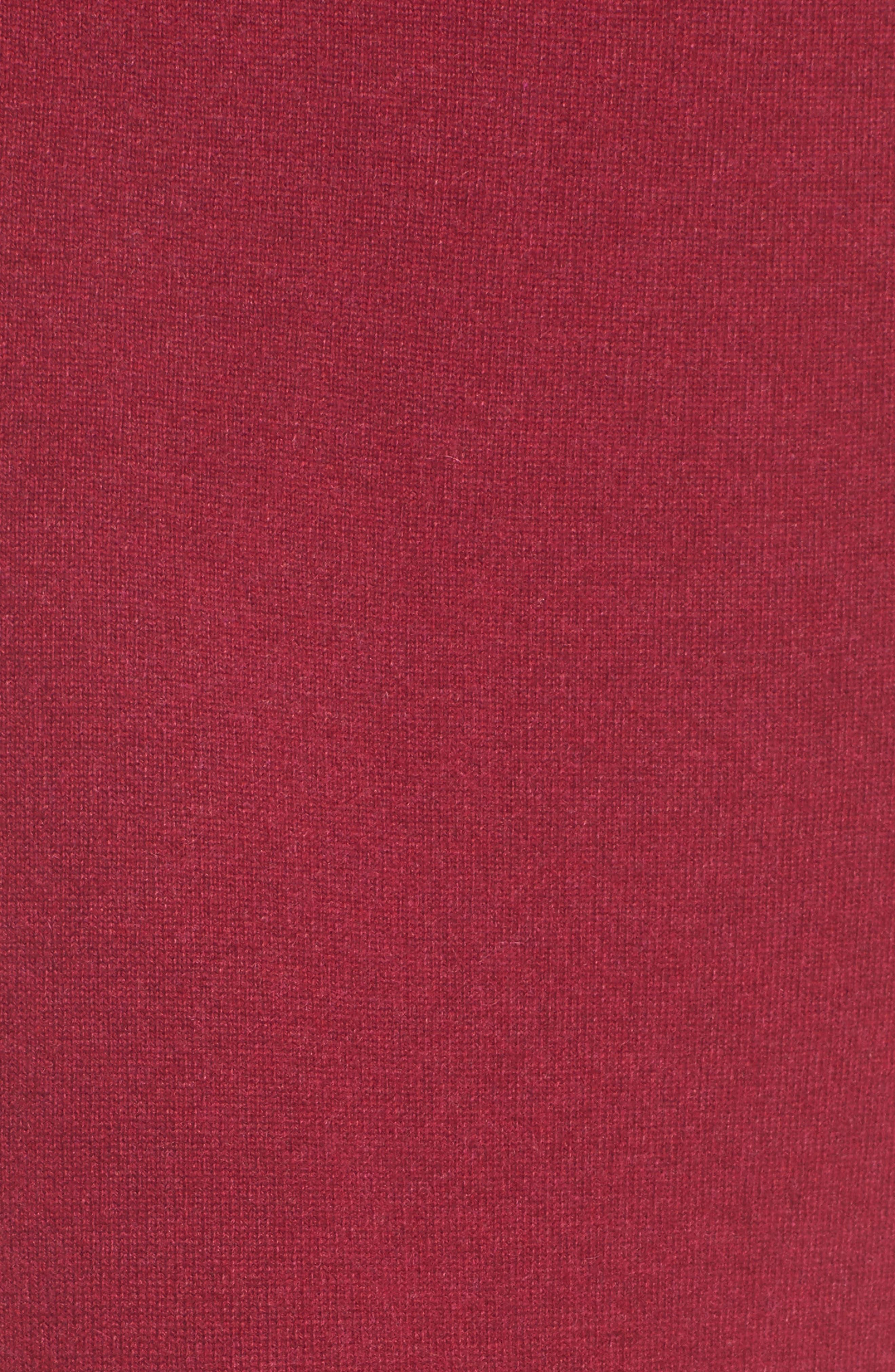 Cashmere Knit Pencil Skirt,                             Alternate thumbnail 5, color,                             Hibiscus