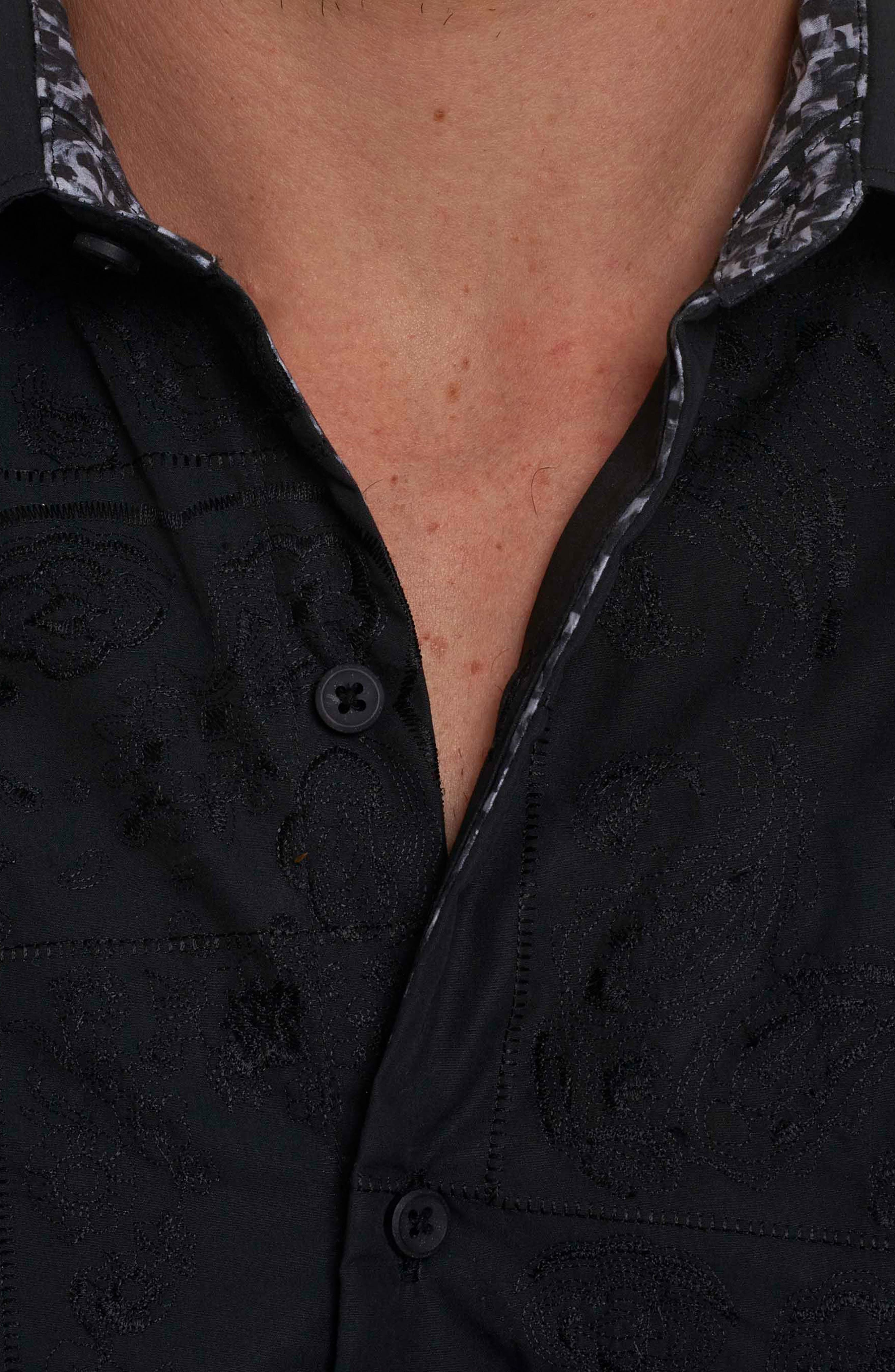 Alternate Image 3  - Robert Graham Onyx Classic Fit Embroidered Sport Shirt