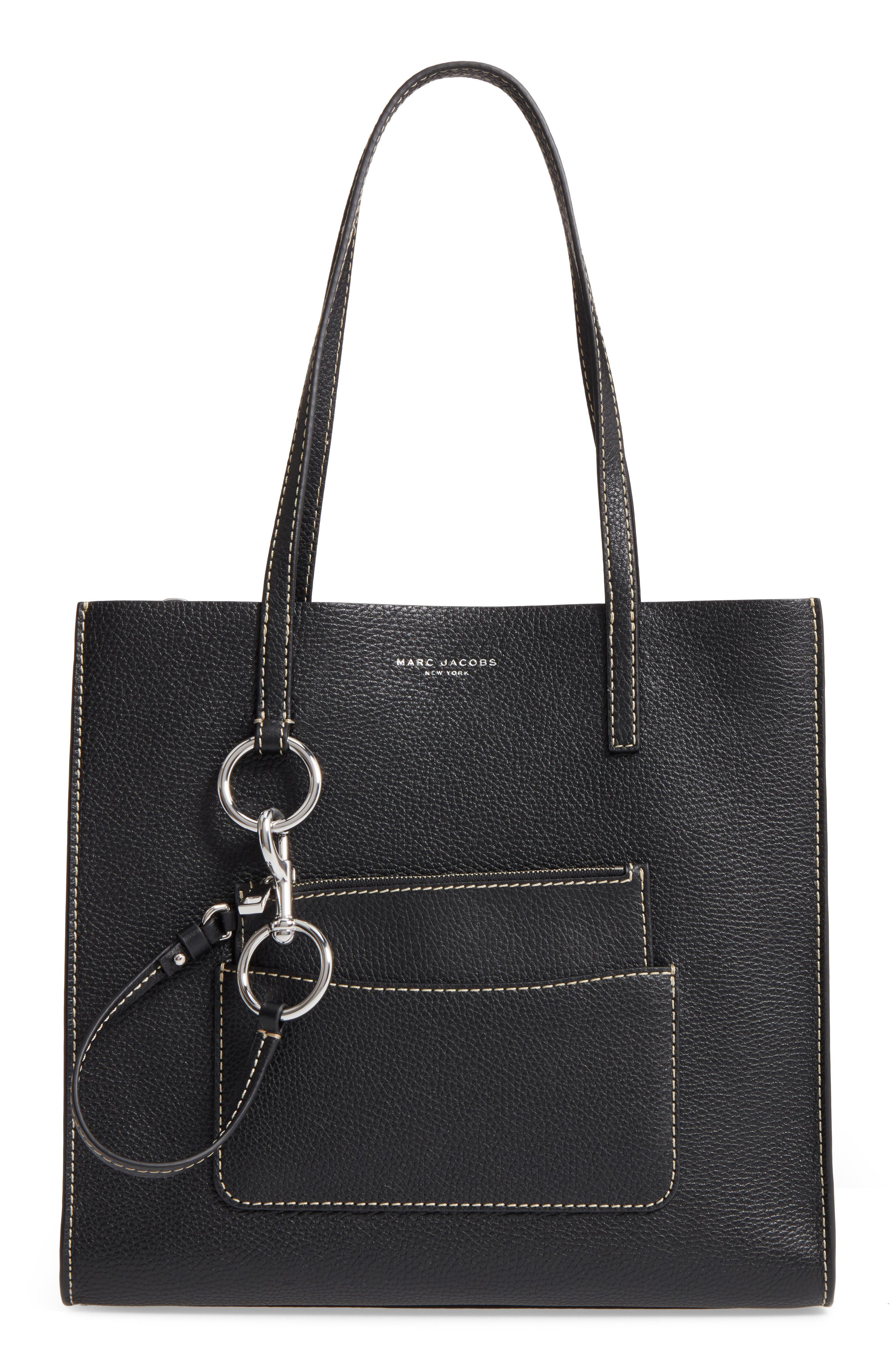 MARC JACOBS The Bold Grind Leather Pocket Tote
