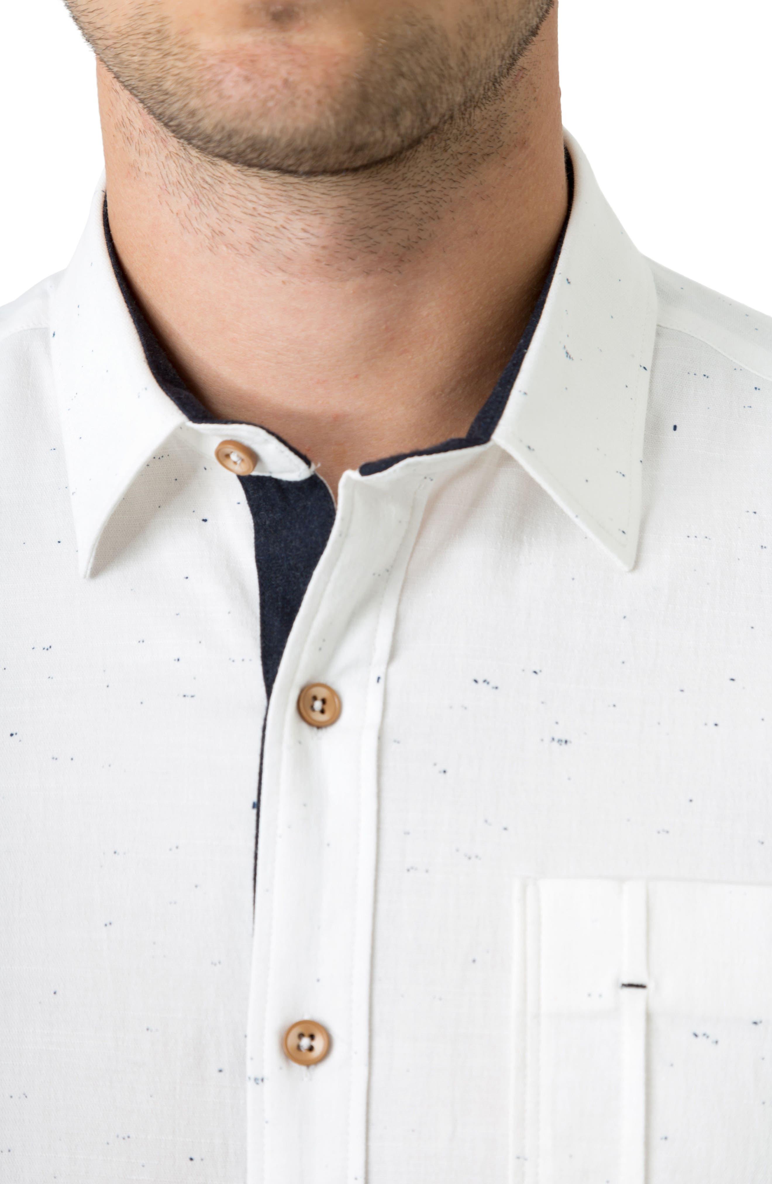 Mystic Traveler Woven Shirt,                             Alternate thumbnail 4, color,                             White
