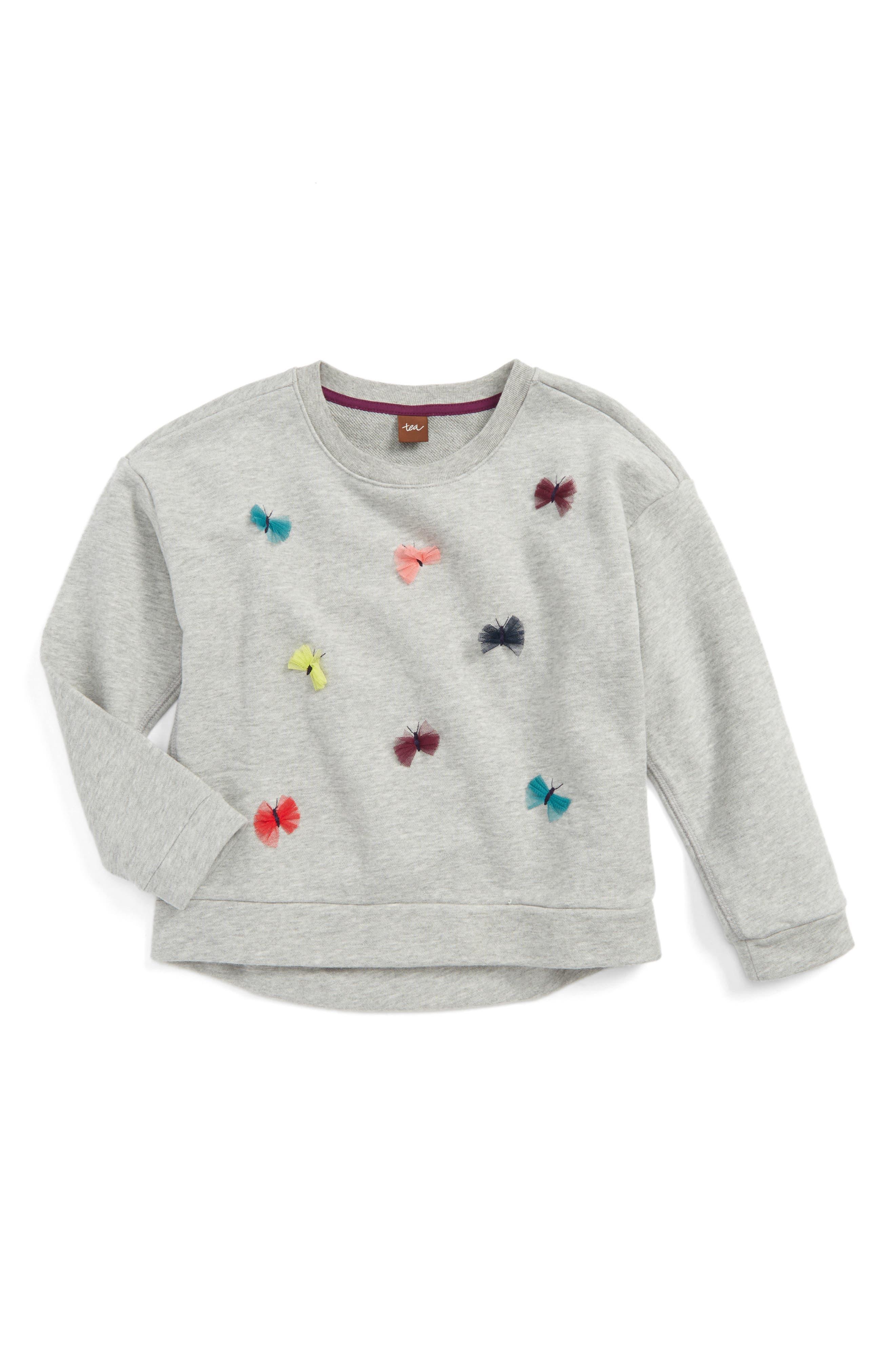 Tea Collection Dealan-De 3D Embellished Sweater (Toddler Girls, Little Girls & Big Girls)