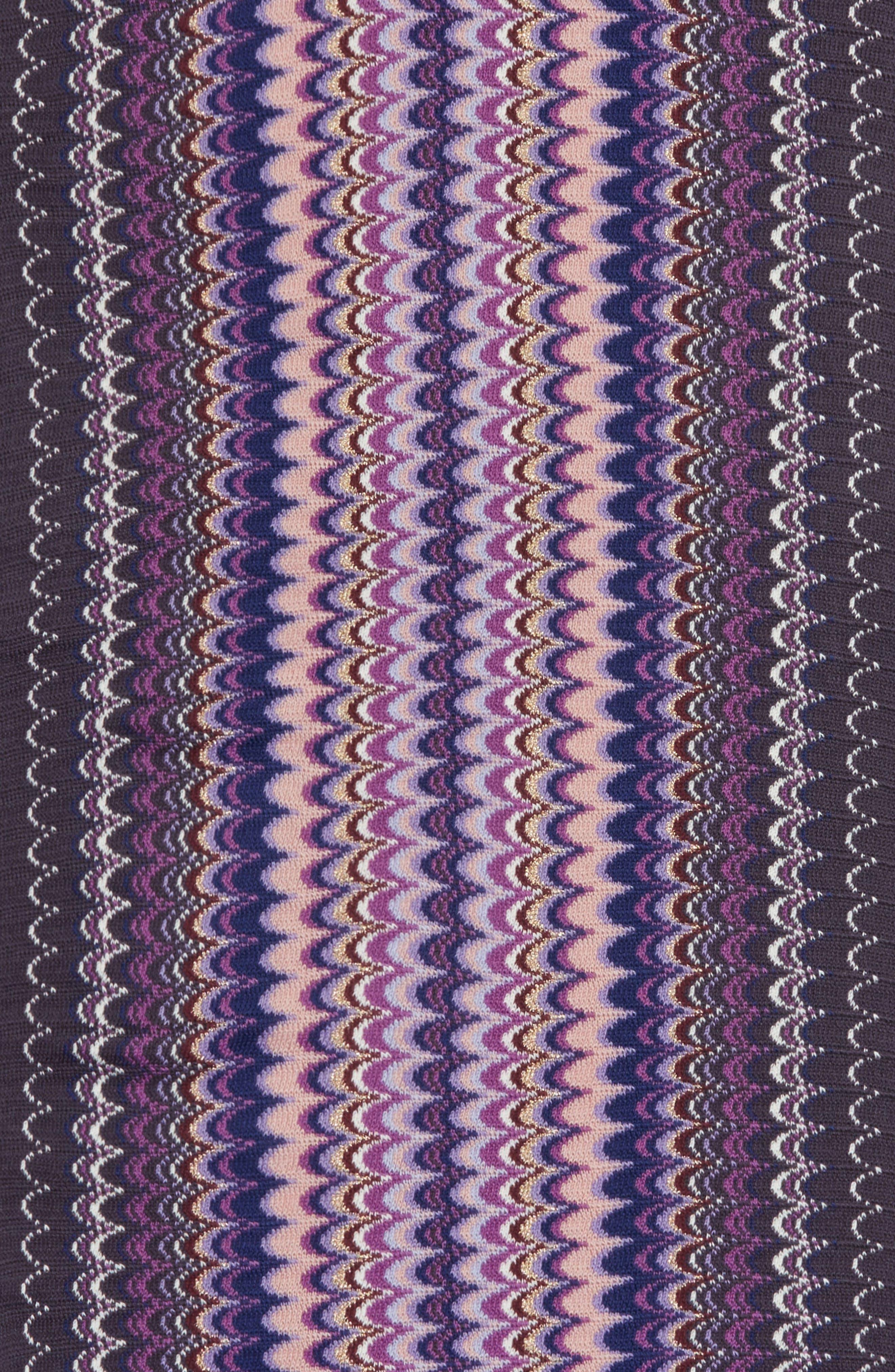 Fringe Scarf,                             Alternate thumbnail 4, color,                             Purple