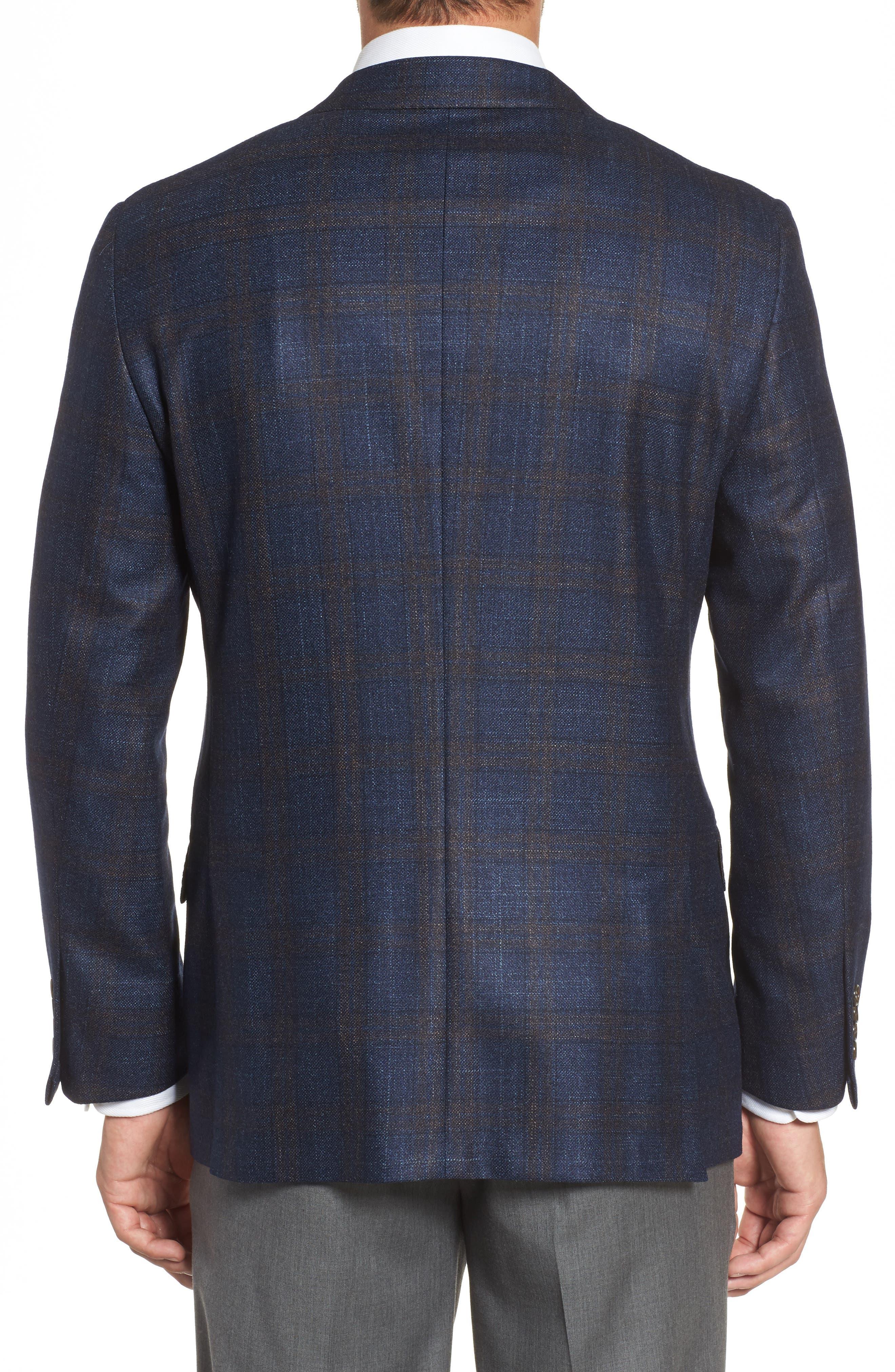 Alternate Image 2  - Hickey Freeman Classic B Fit Plaid Wool Blend Sport Coat