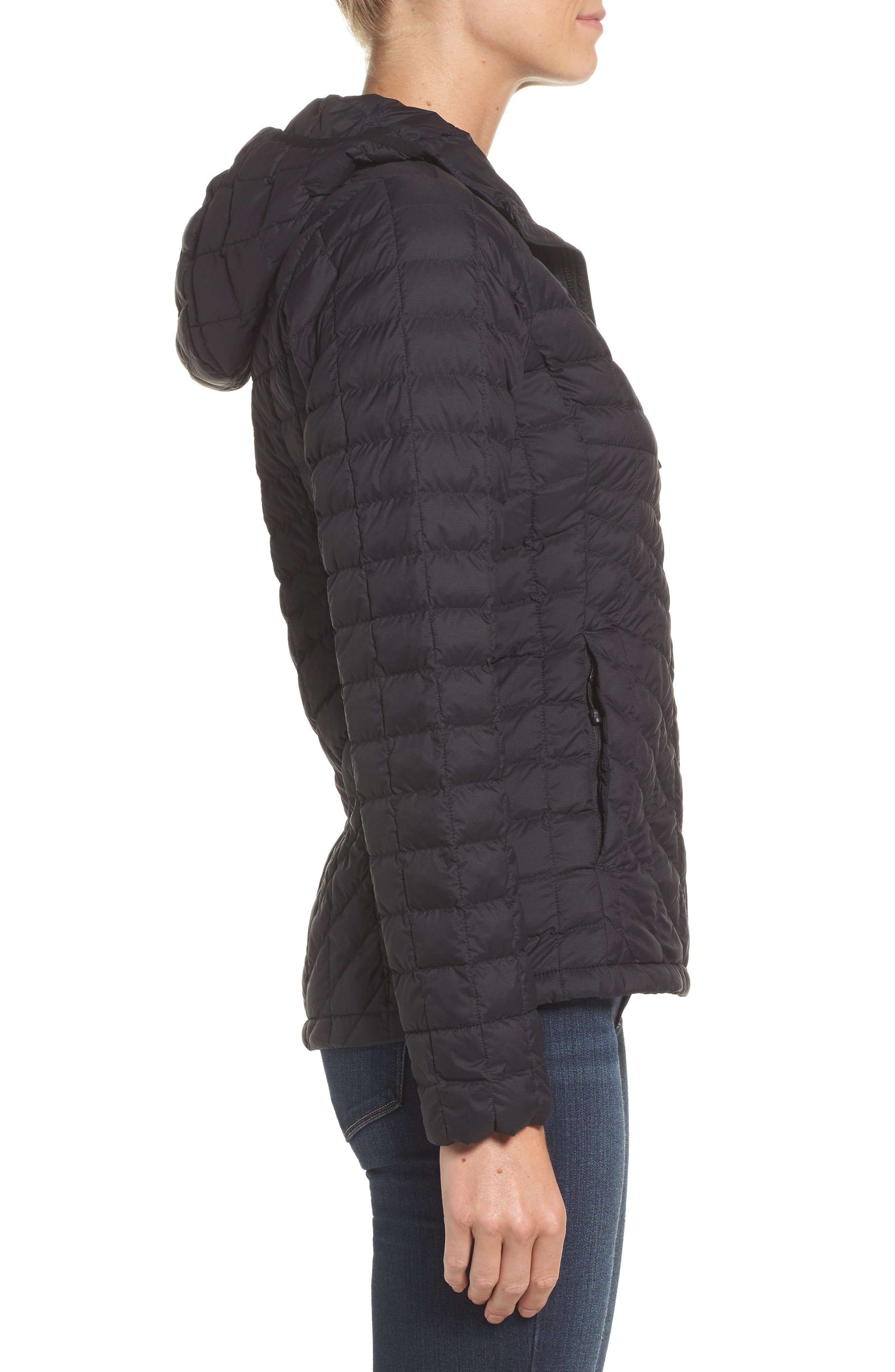 ThermoBall<sup>™</sup> Zip Hoodie,                             Alternate thumbnail 3, color,                             Tnf Black Matte