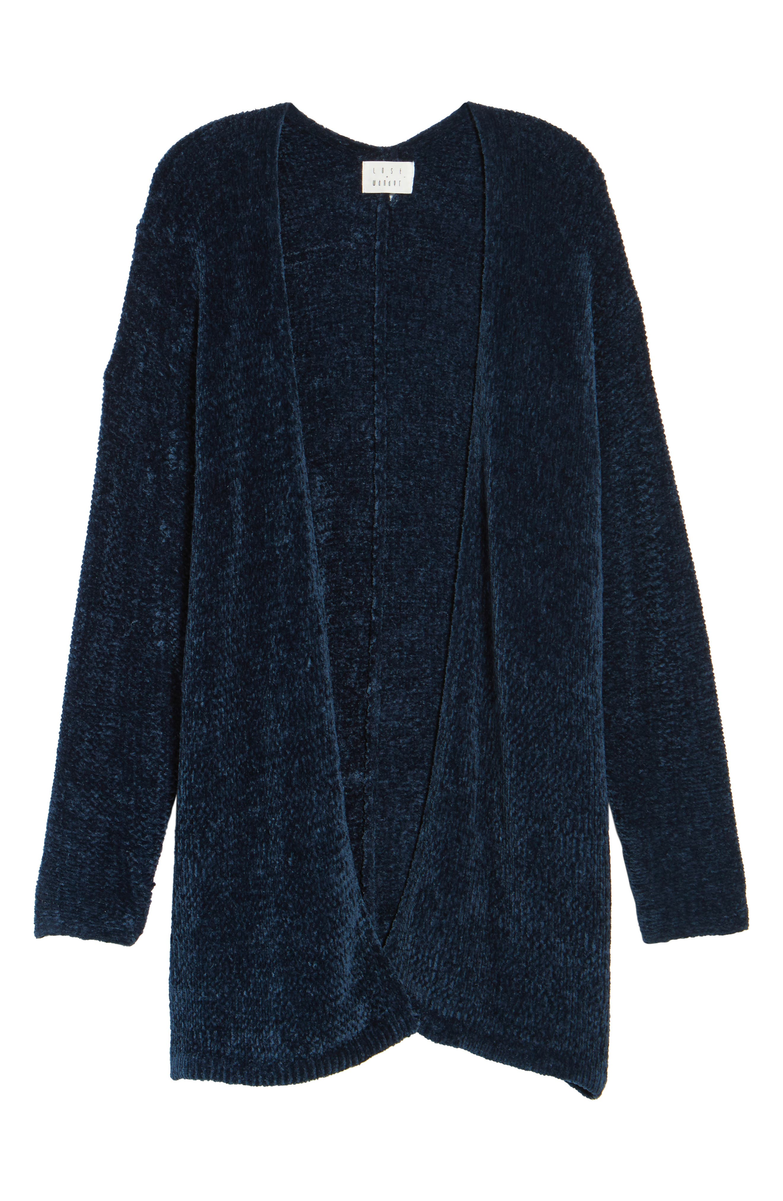 Alternate Image 6  - Lost + Wander Maya Chenille Long Cardigan