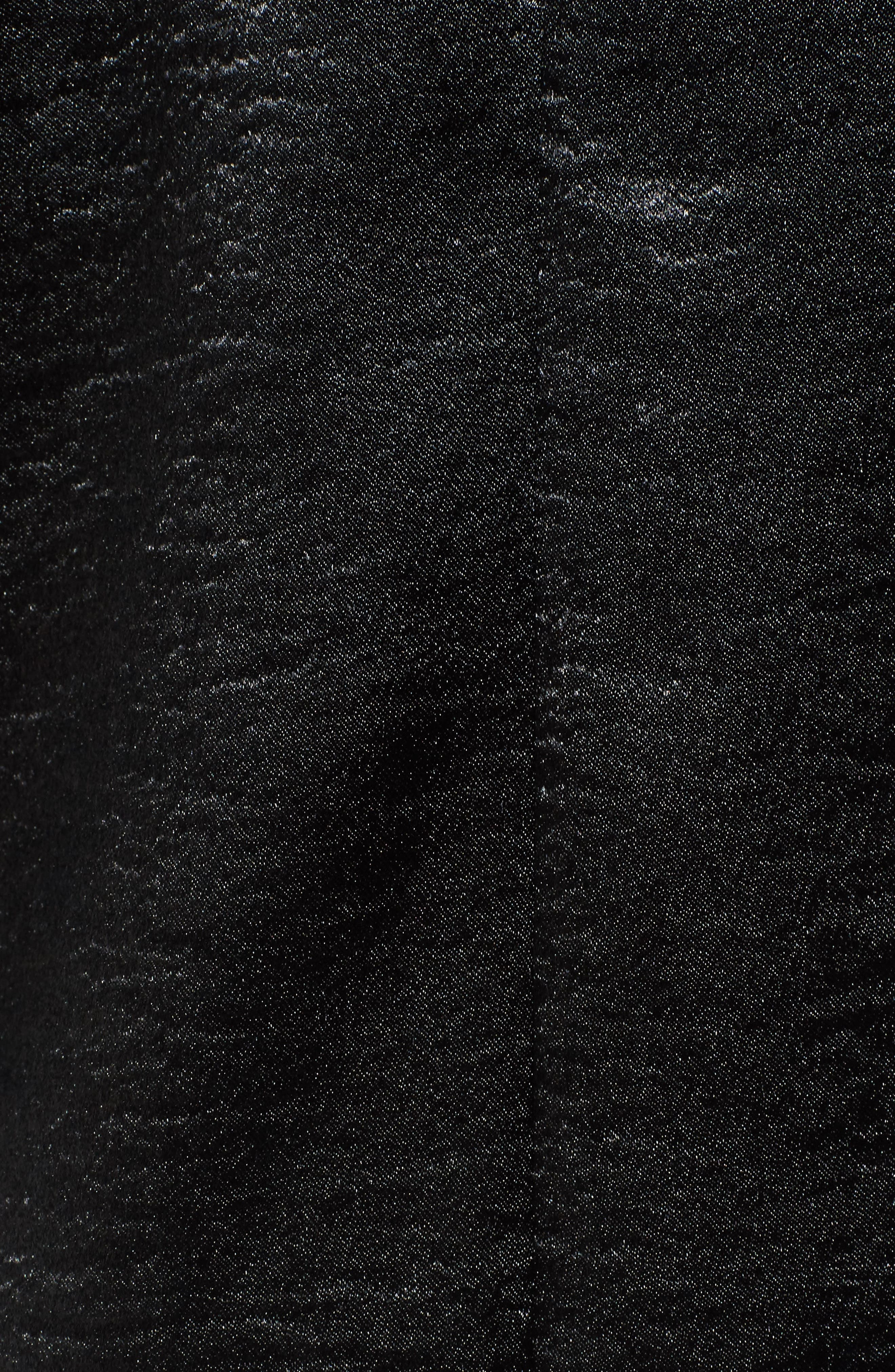 Bloused Sleeve Top,                             Alternate thumbnail 5, color,                             Black