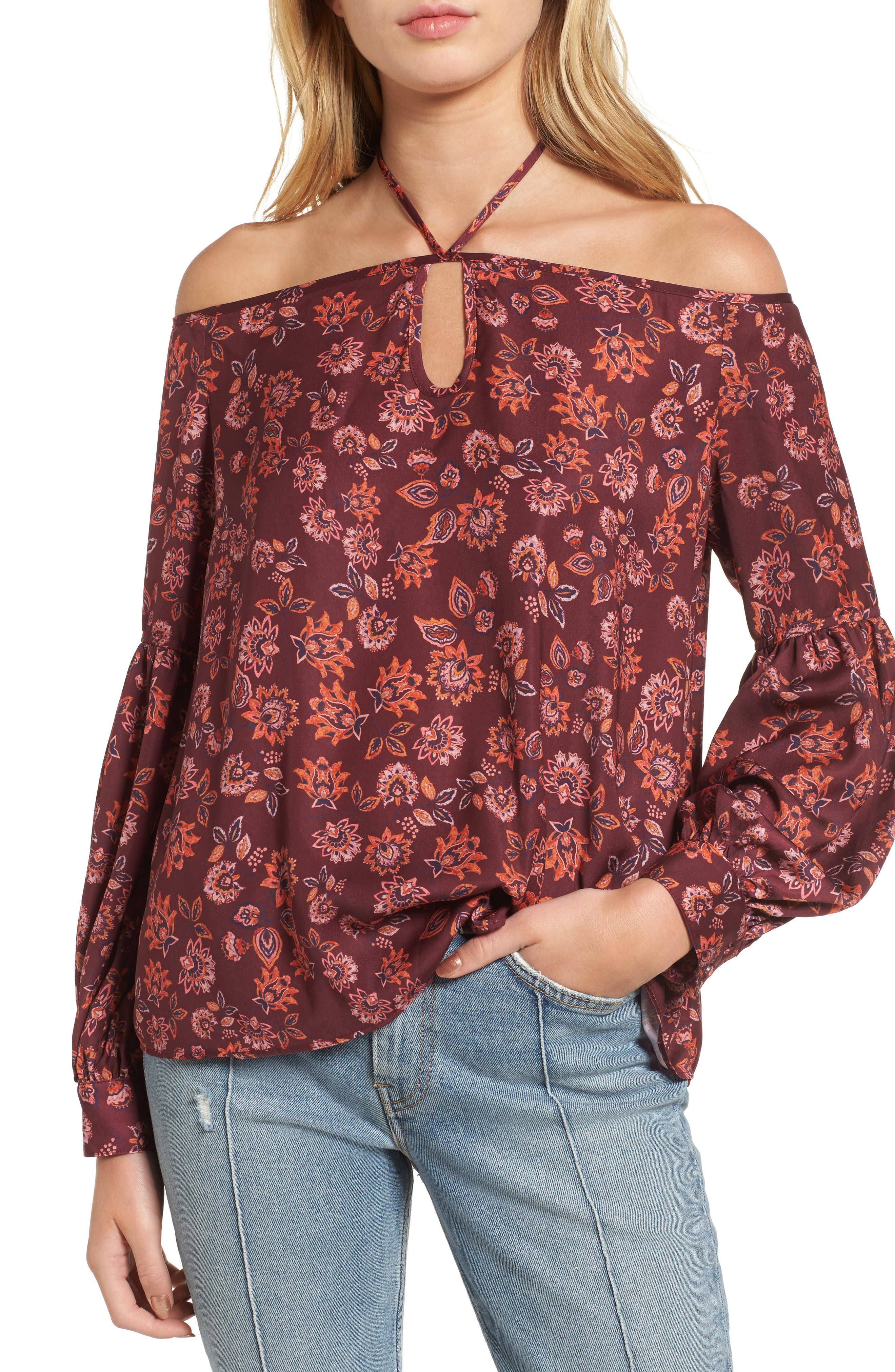 The Fifth Label Carousel Print Off the Shoulder Top