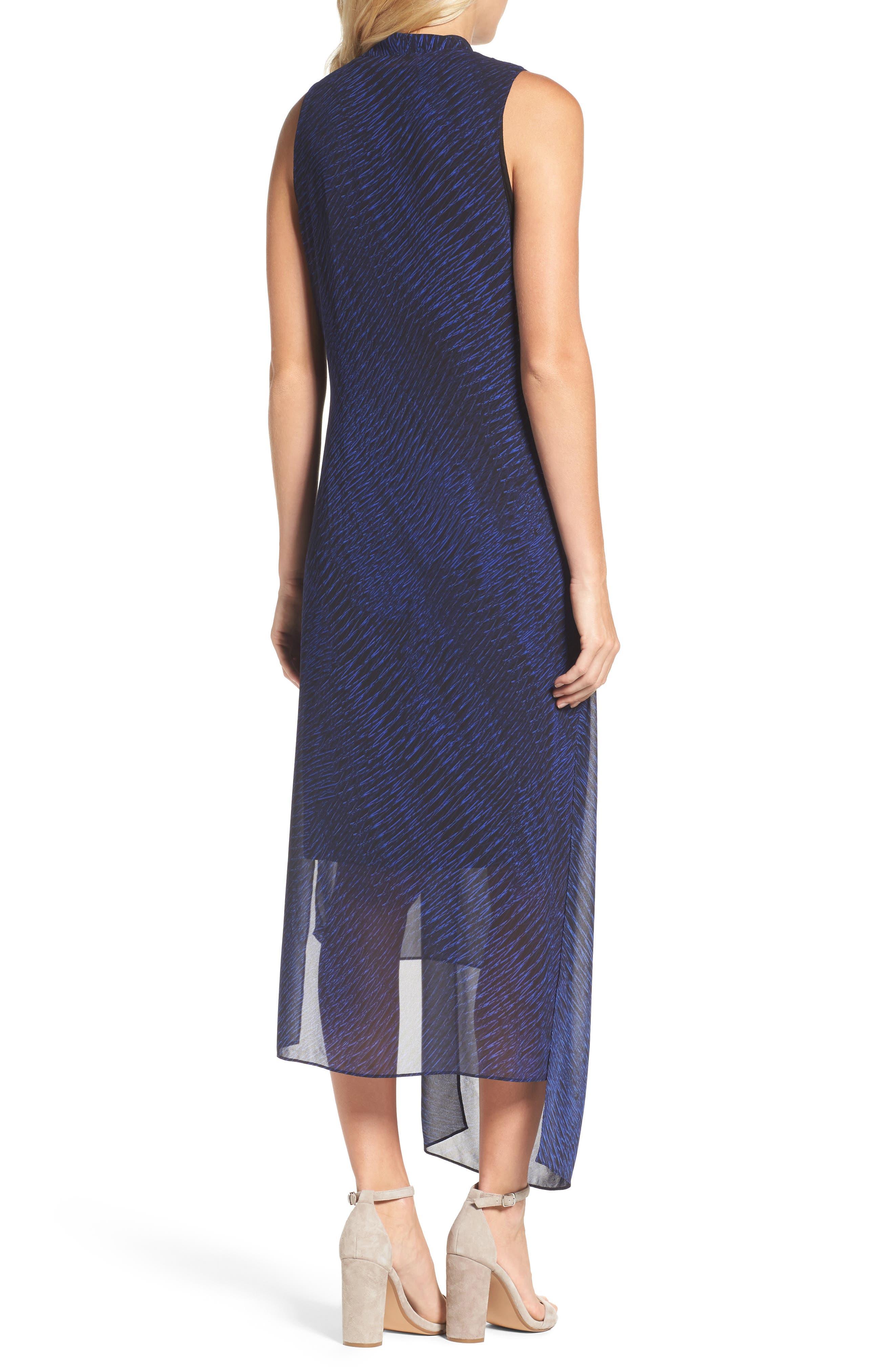Blue Streaks Midi Dress,                             Alternate thumbnail 2, color,                             Blue Roma