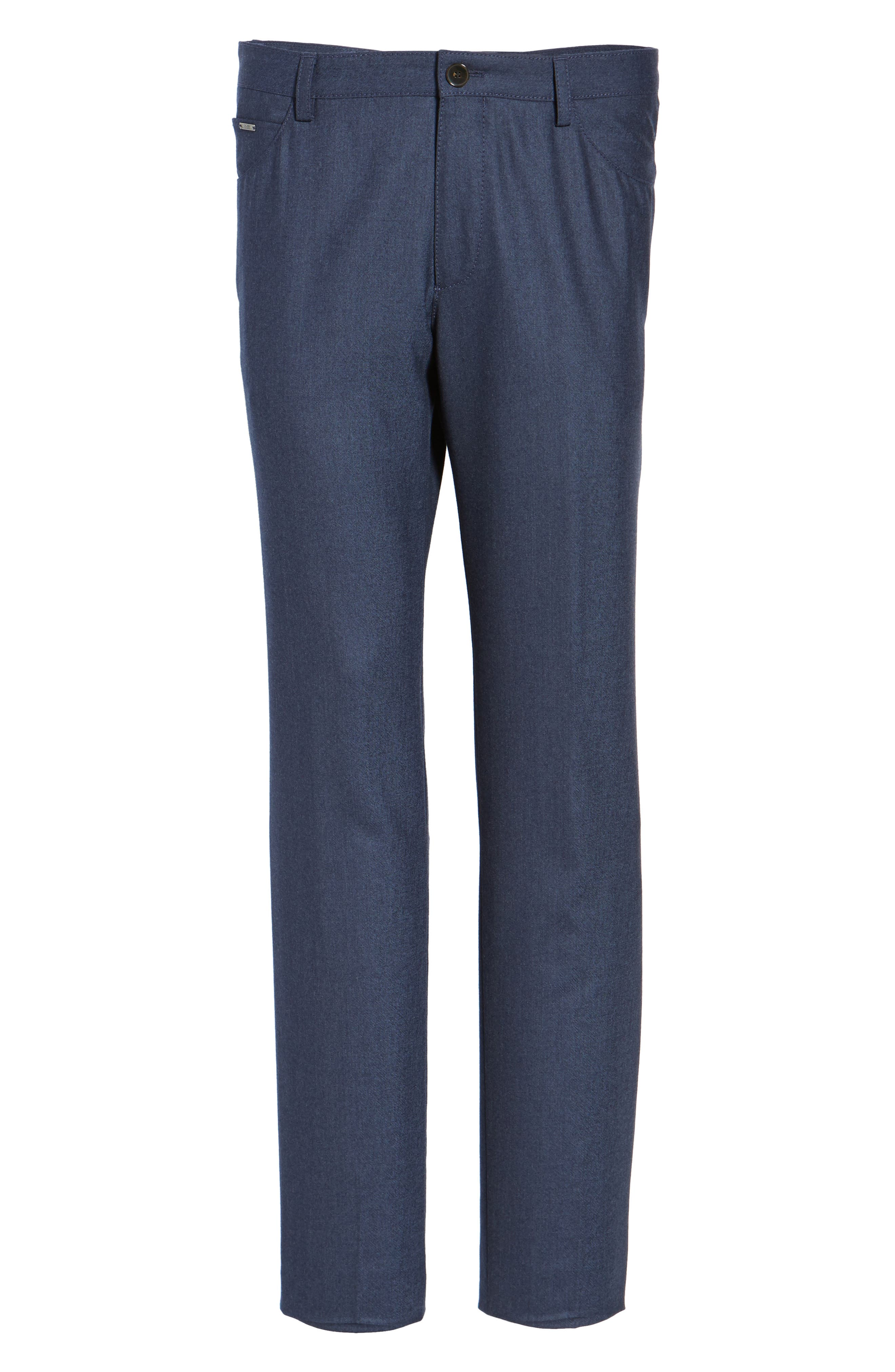 Alternate Image 6  - BOSS Gaetano Regular Fit Wool Trousers
