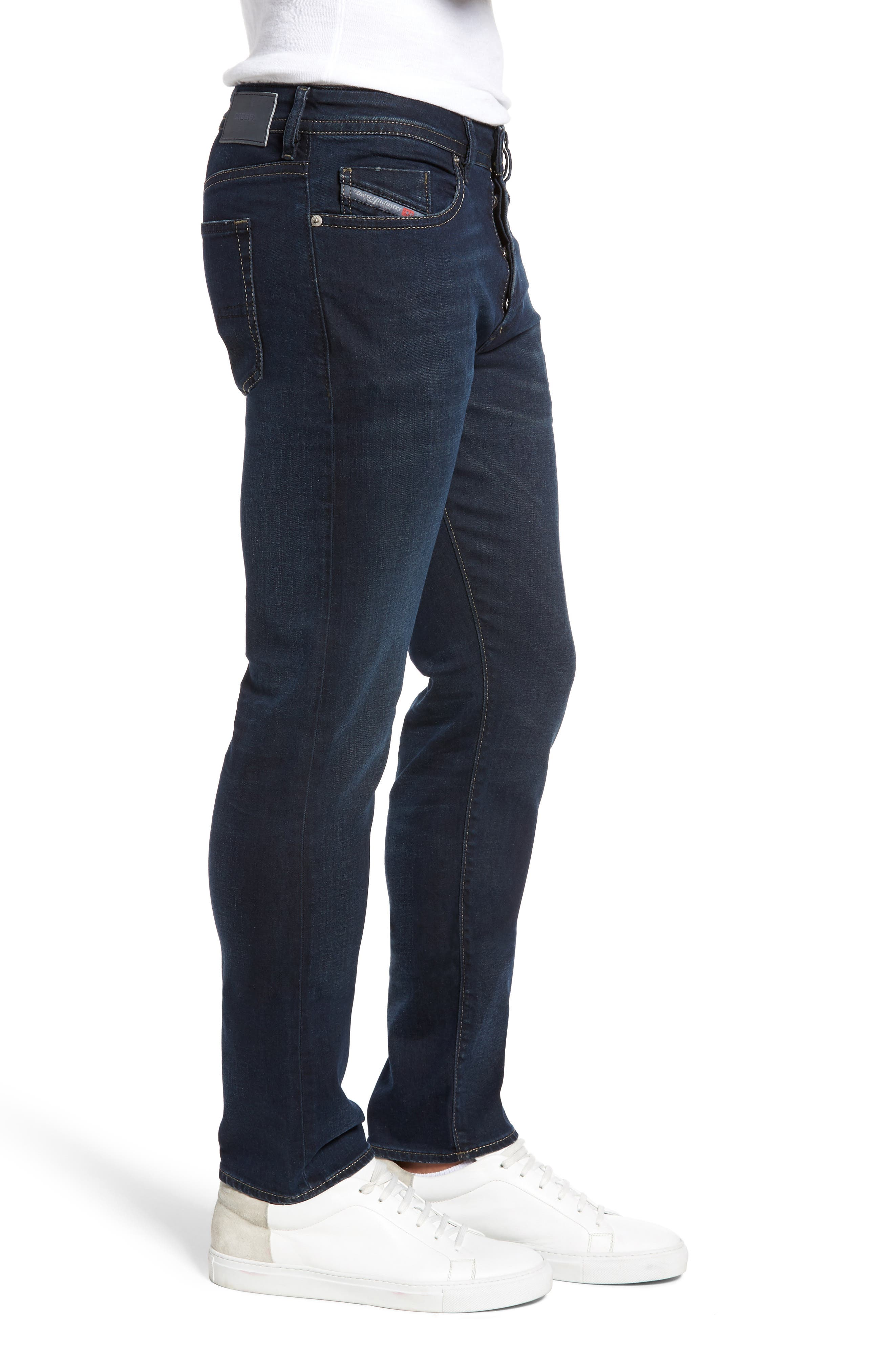 Buster Slim Straight Fit Jeans,                             Alternate thumbnail 3, color,                             Denim