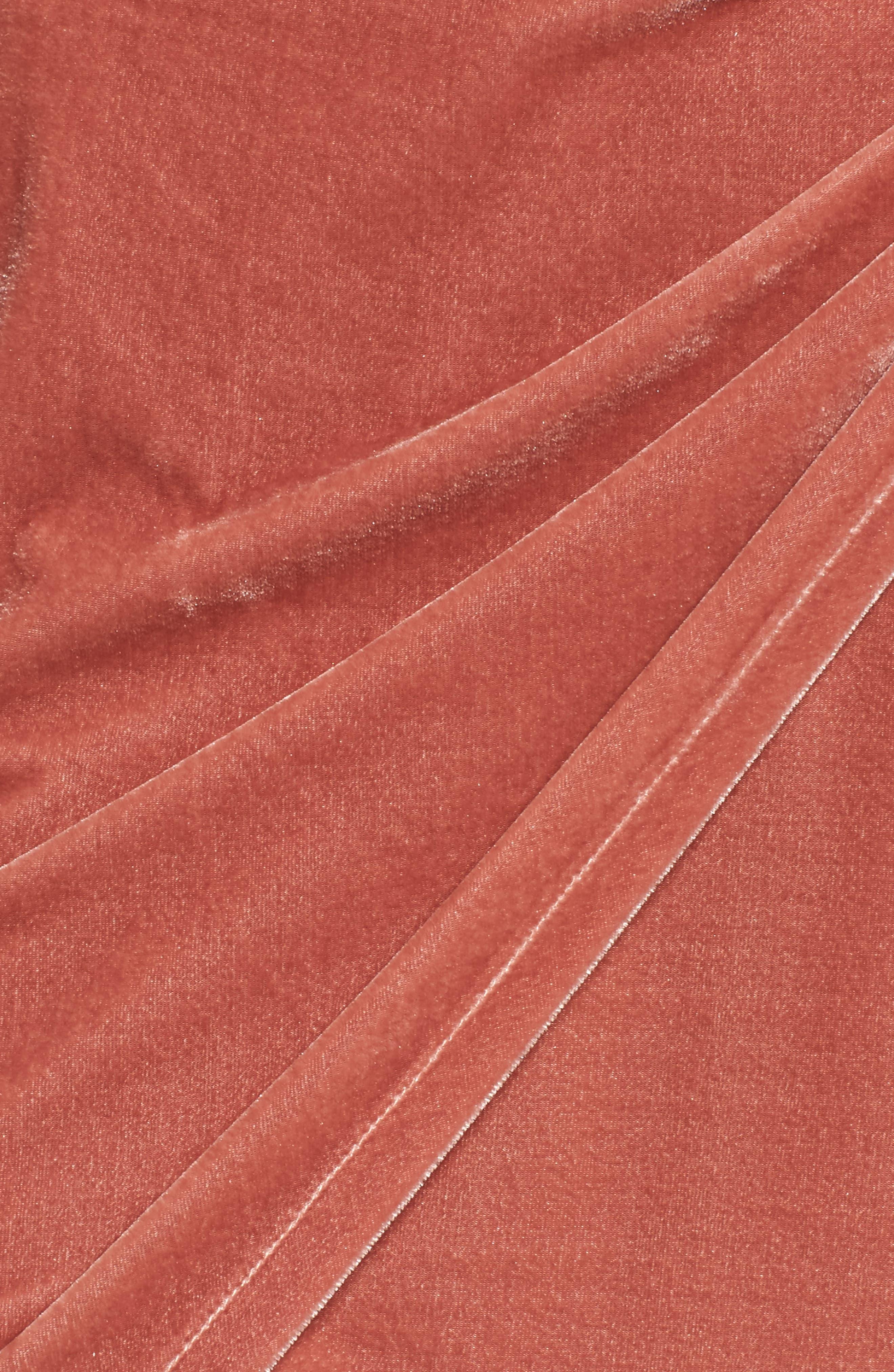 Katie Faux Wrap Skirt,                             Alternate thumbnail 5, color,                             Wild Rose