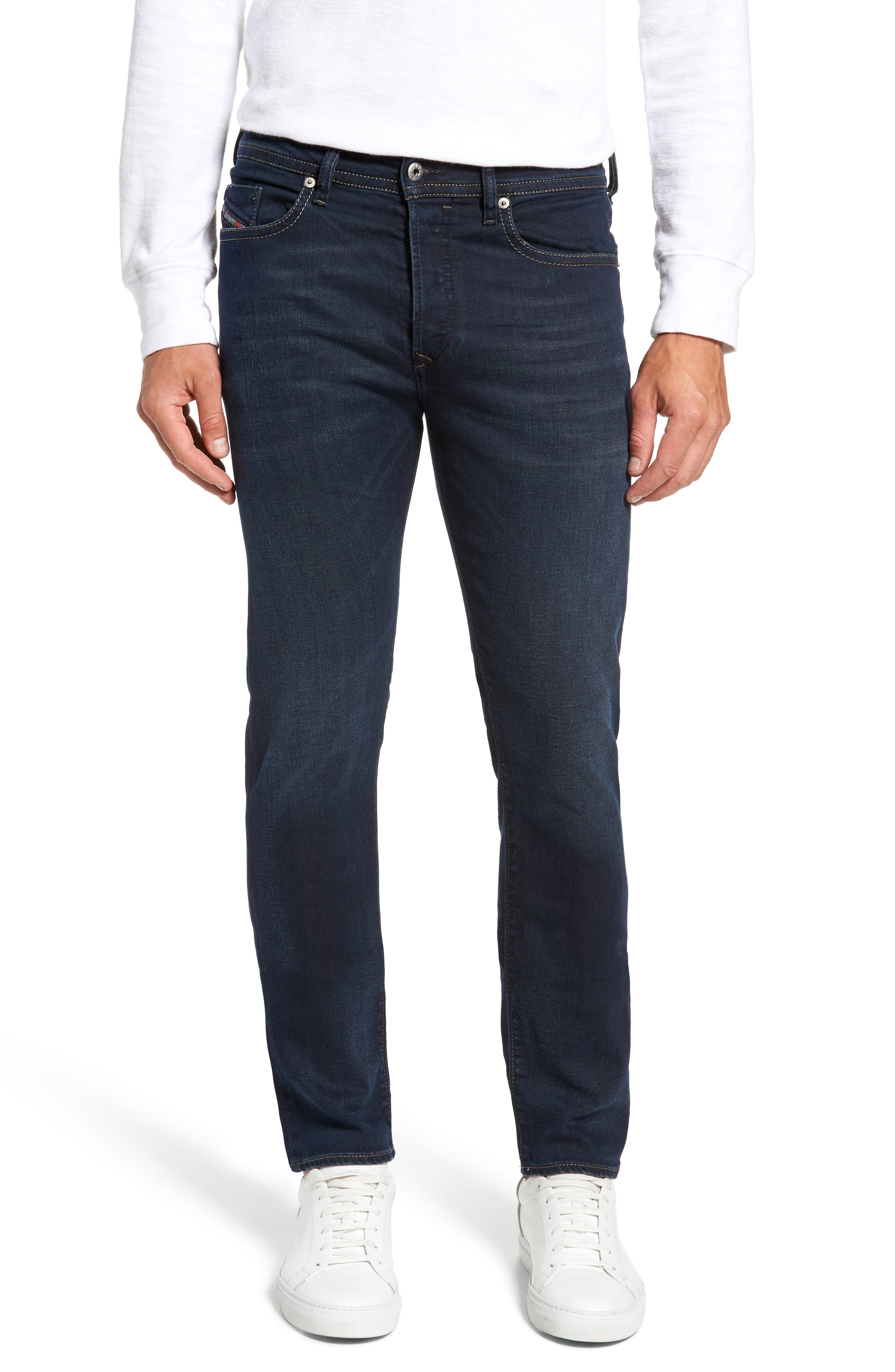 Buster Slim Straight Fit Jeans,                             Main thumbnail 1, color,                             Denim