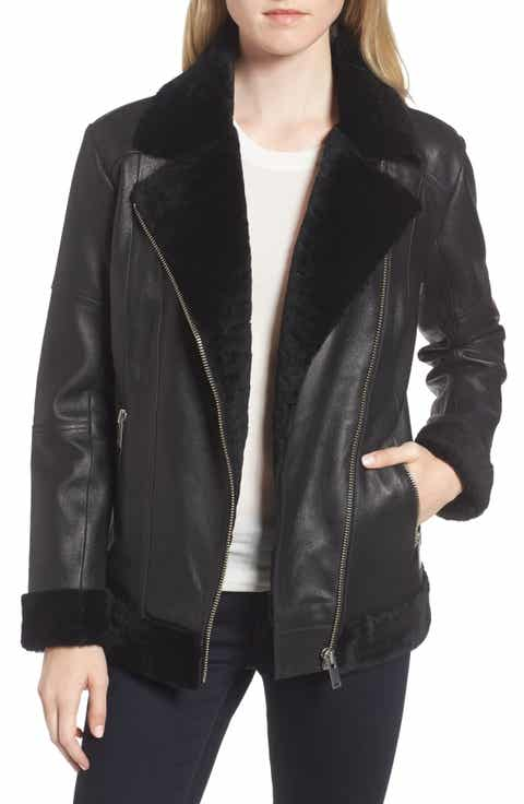 Women's Leather (Genuine) Outerwear Sale: Coats & Jackets | Nordstrom