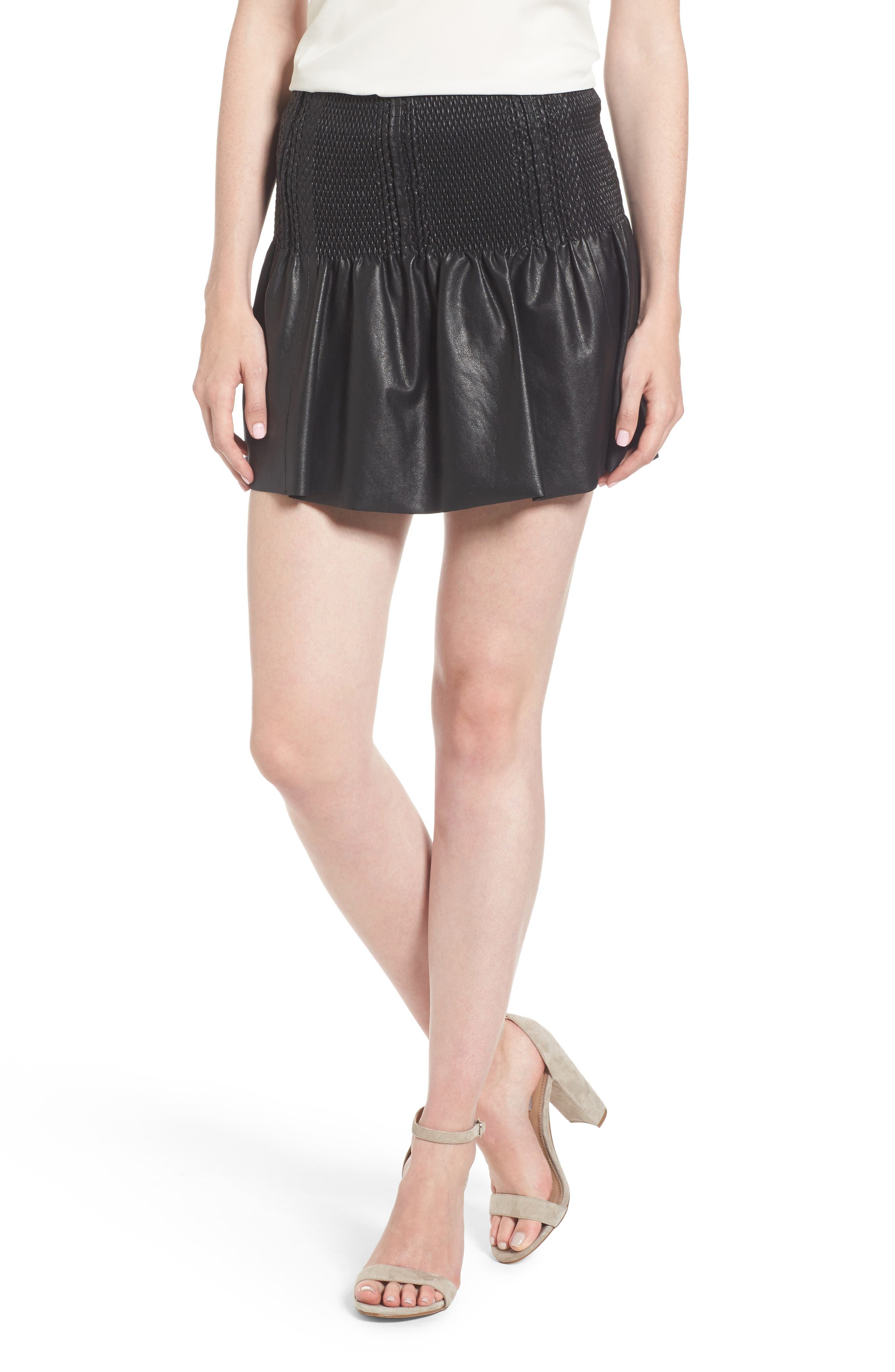 Alternate Image 1 Selected - Ella Moss Geela Smocked Skirt