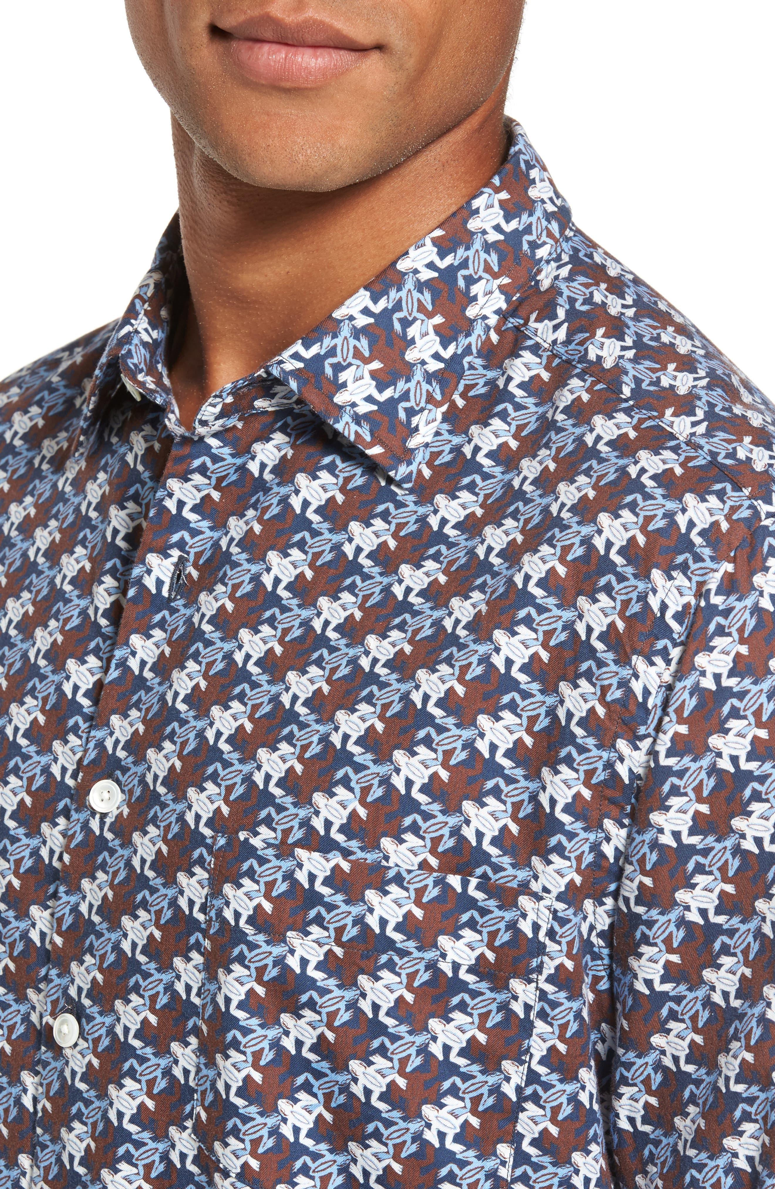 Alternate Image 4  - Rodd & Gunn Mason Bay Sports Fit Frog Sport Shirt