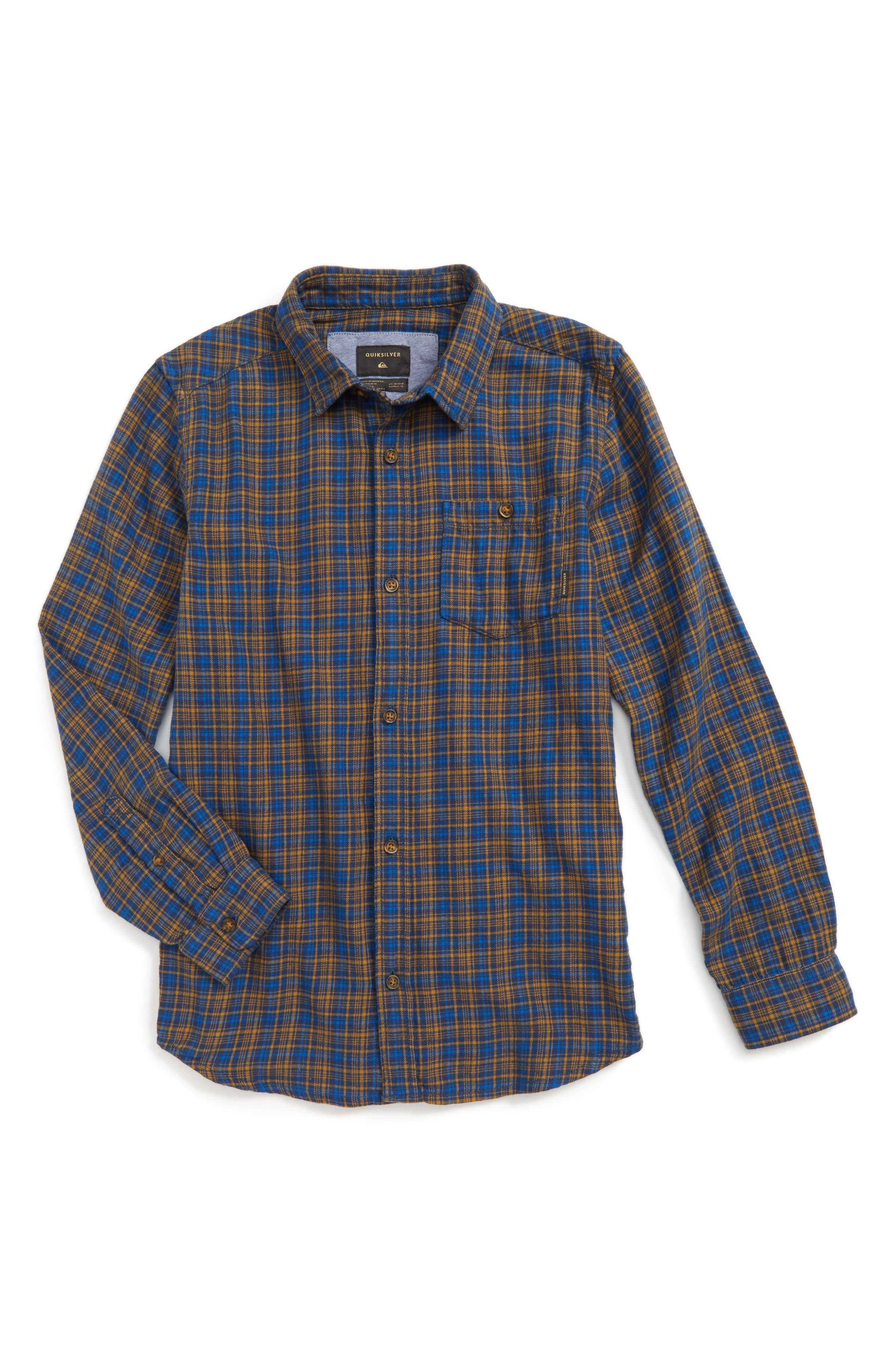 Quiksilver Phaser Setting Plaid Flannel Sport Shirt (Big Boys)