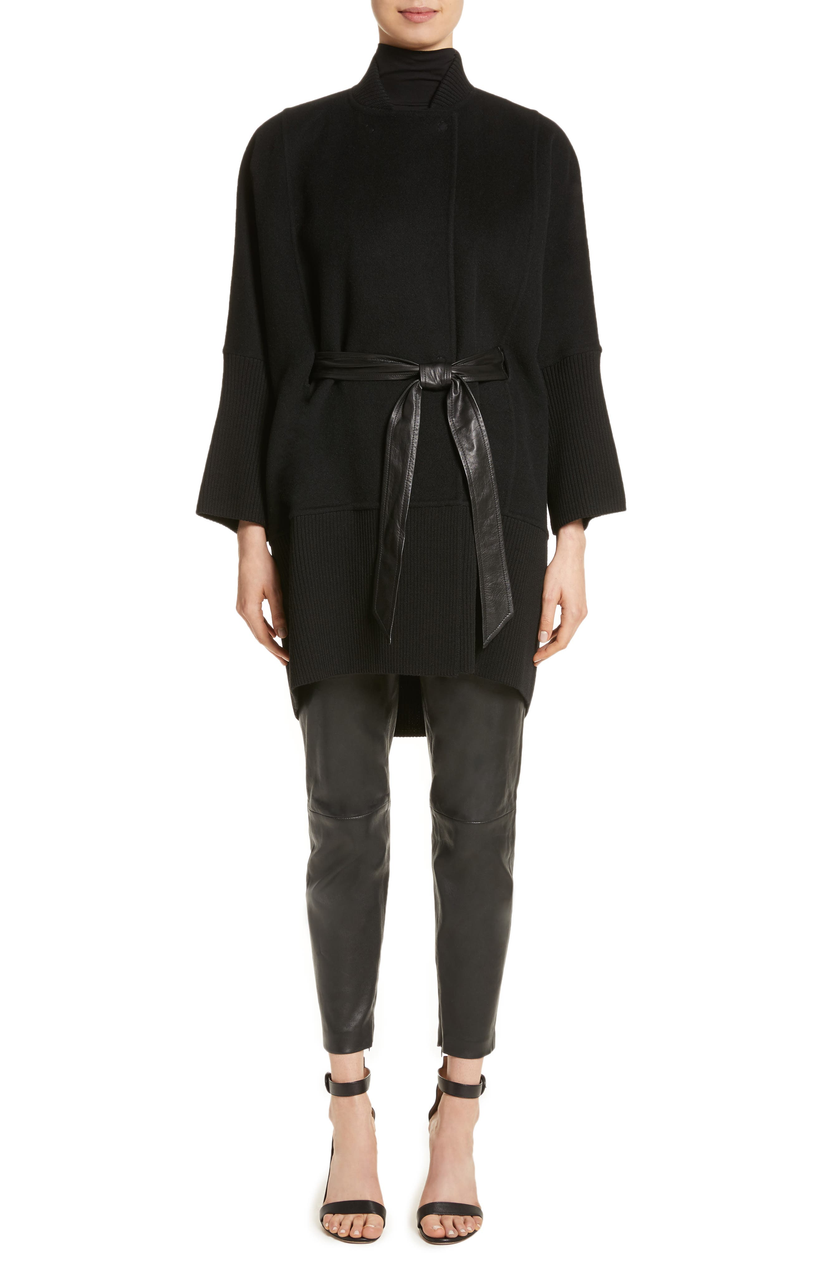 Alternate Image 7  - St. John Collection Stretch Nappa Leather Crop Pants