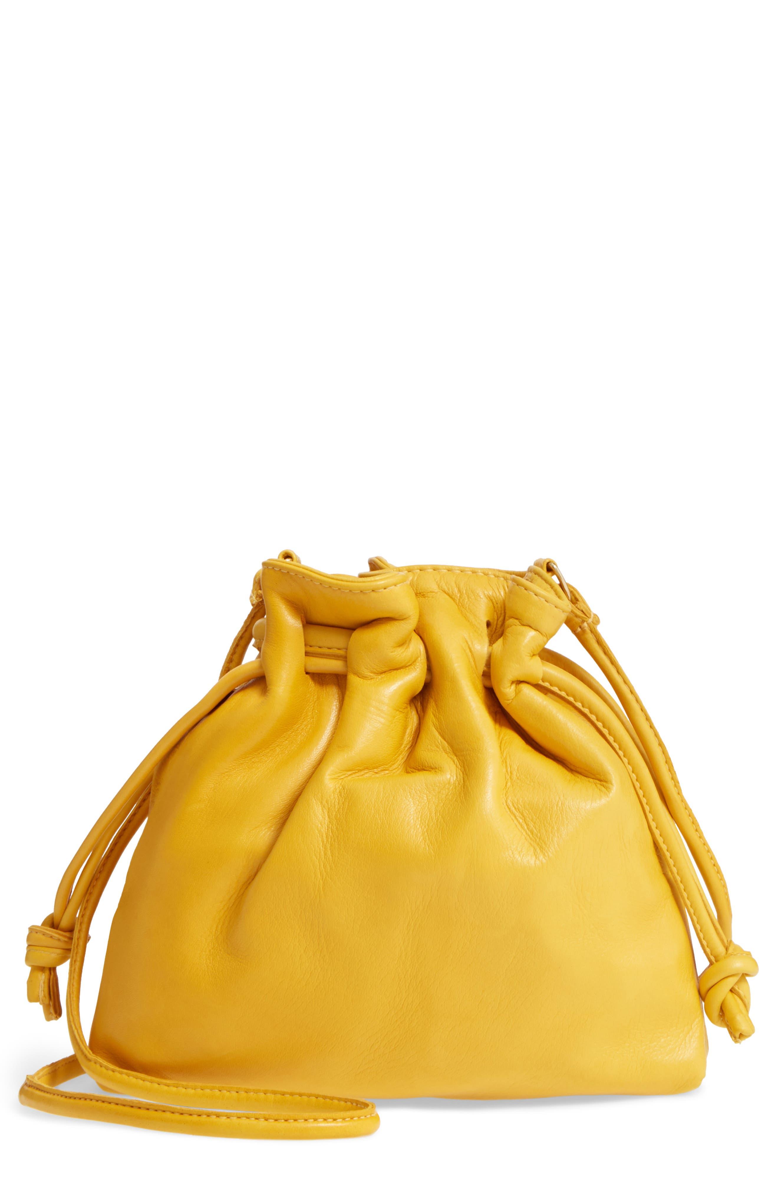 CLARE V. Petit Henri Leather Bucket Bag