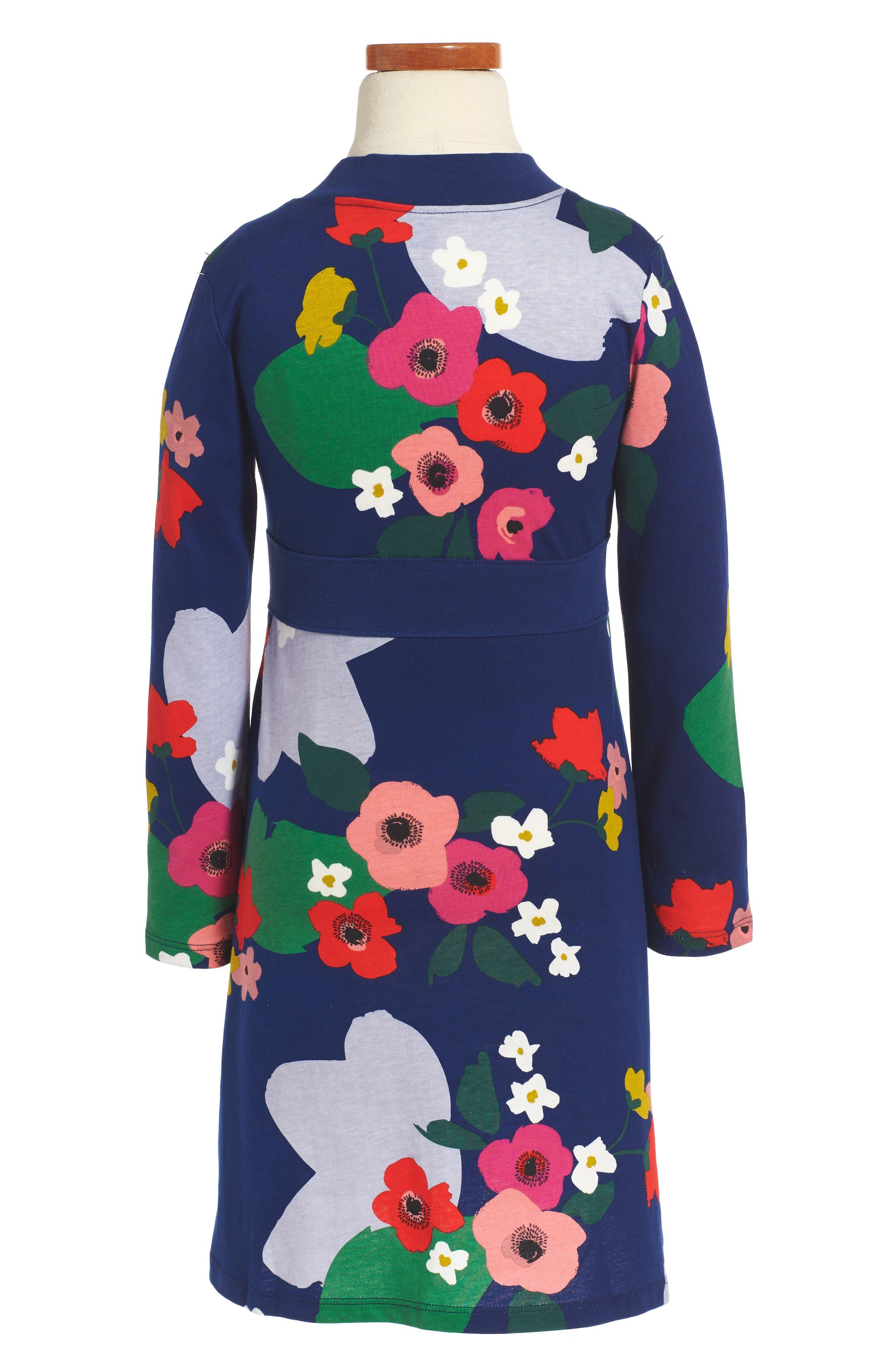 Alternate Image 2  - Tea Collection Scotland Garden Wrap Neck Dress (Toddler Girls, Little Girls & Big Girls)