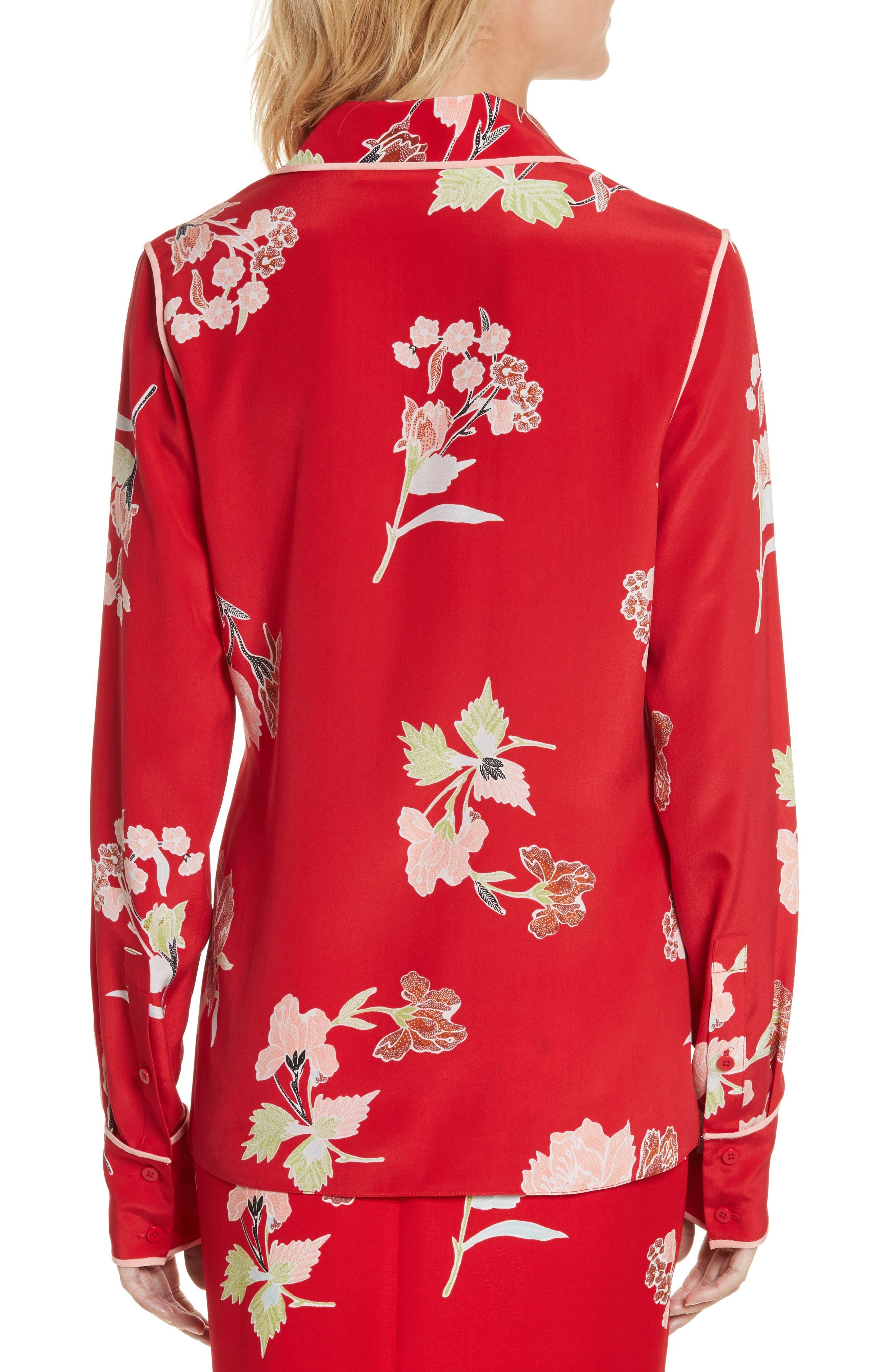 Alternate Image 2  - Diane von Furstenberg Floral Print Silk Shirt