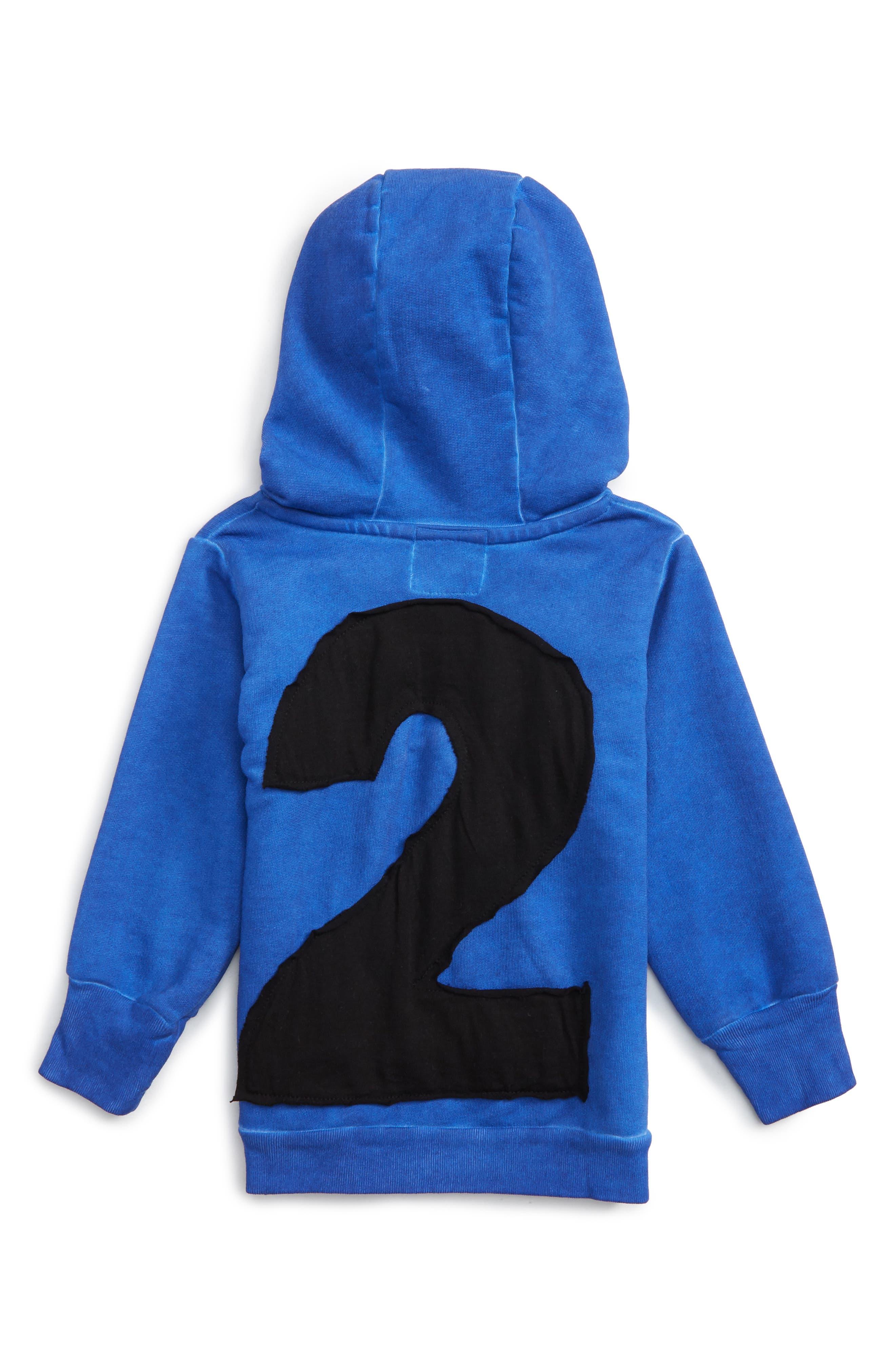 Alternate Image 2  - NUNUNU Numbered Hoodie (Baby Boys)