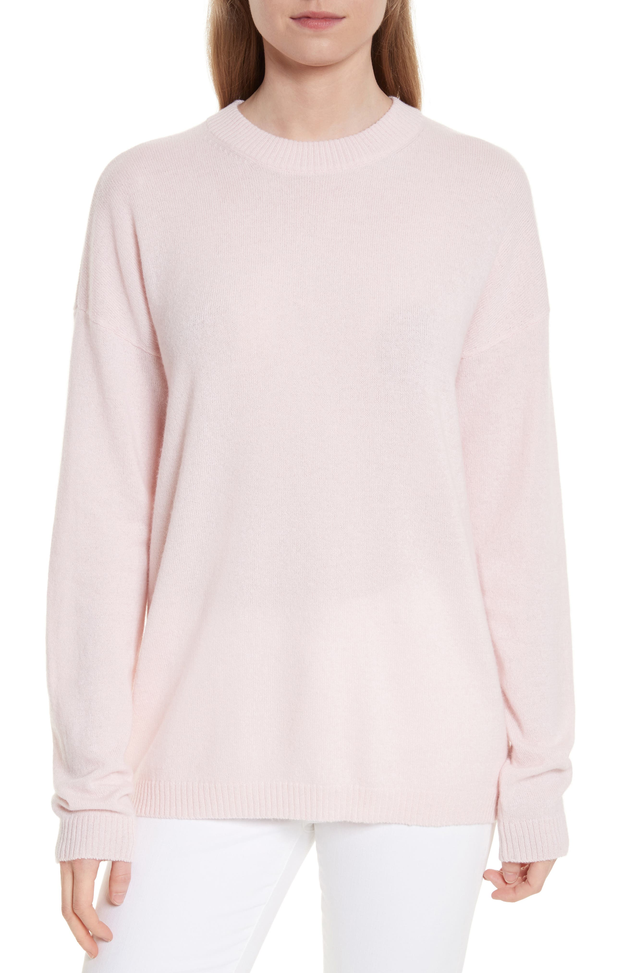 Bryce Oversize Cashmere Sweater,                         Main,                         color, Cosmetic Pink